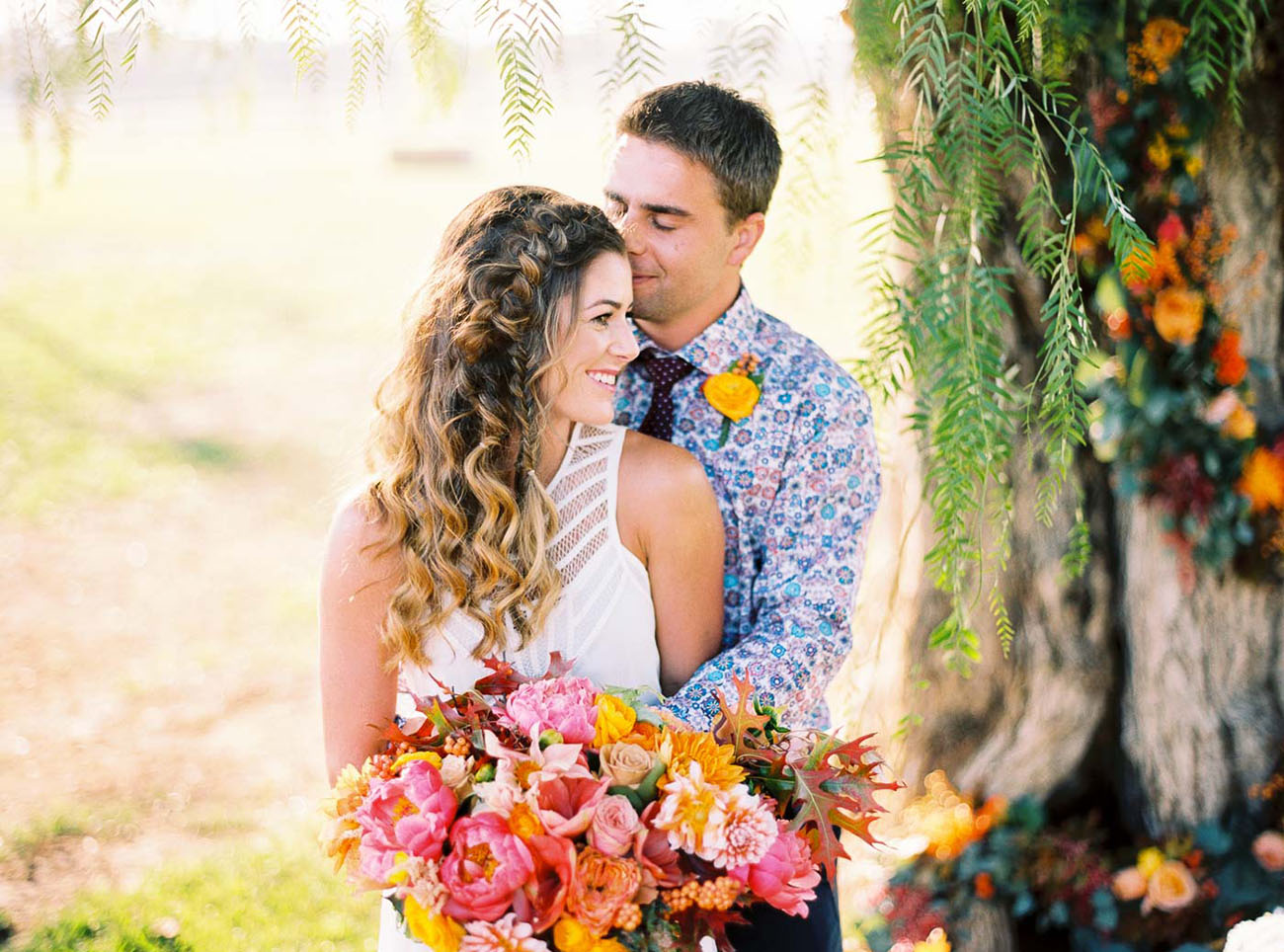 floral grooms shirt