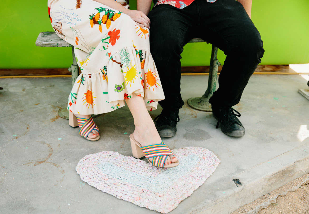 Colorful Crochet Museum Engagement