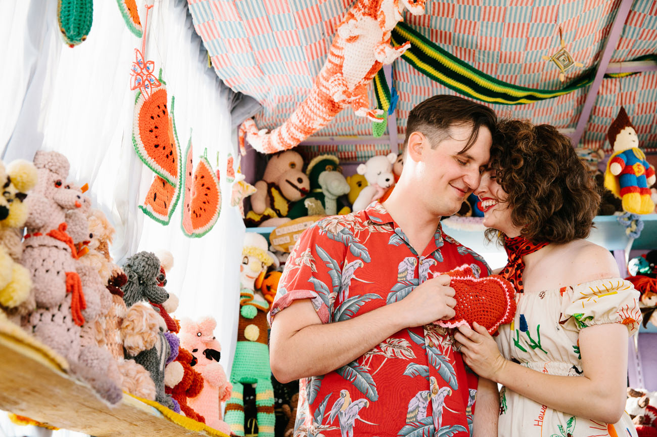 Colorful Crochet Museum Engagement
