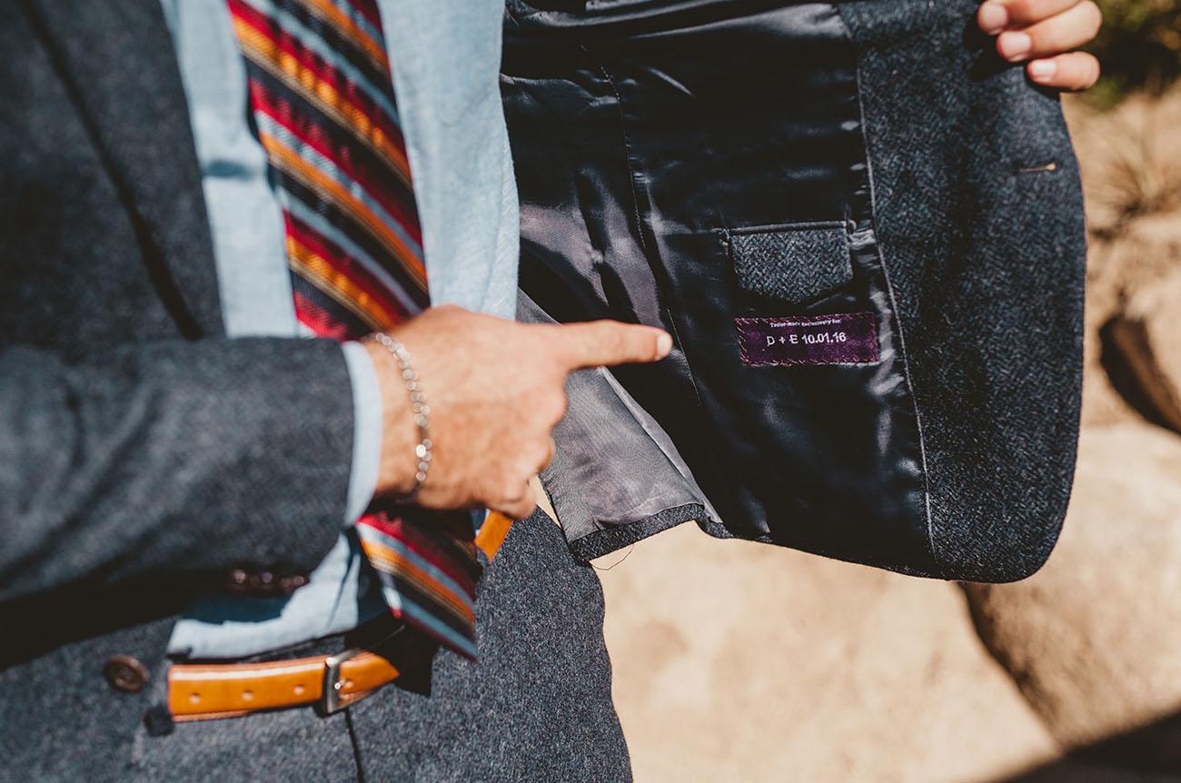 custom grooms jacket
