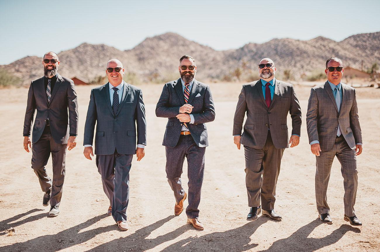 desert groomsmen