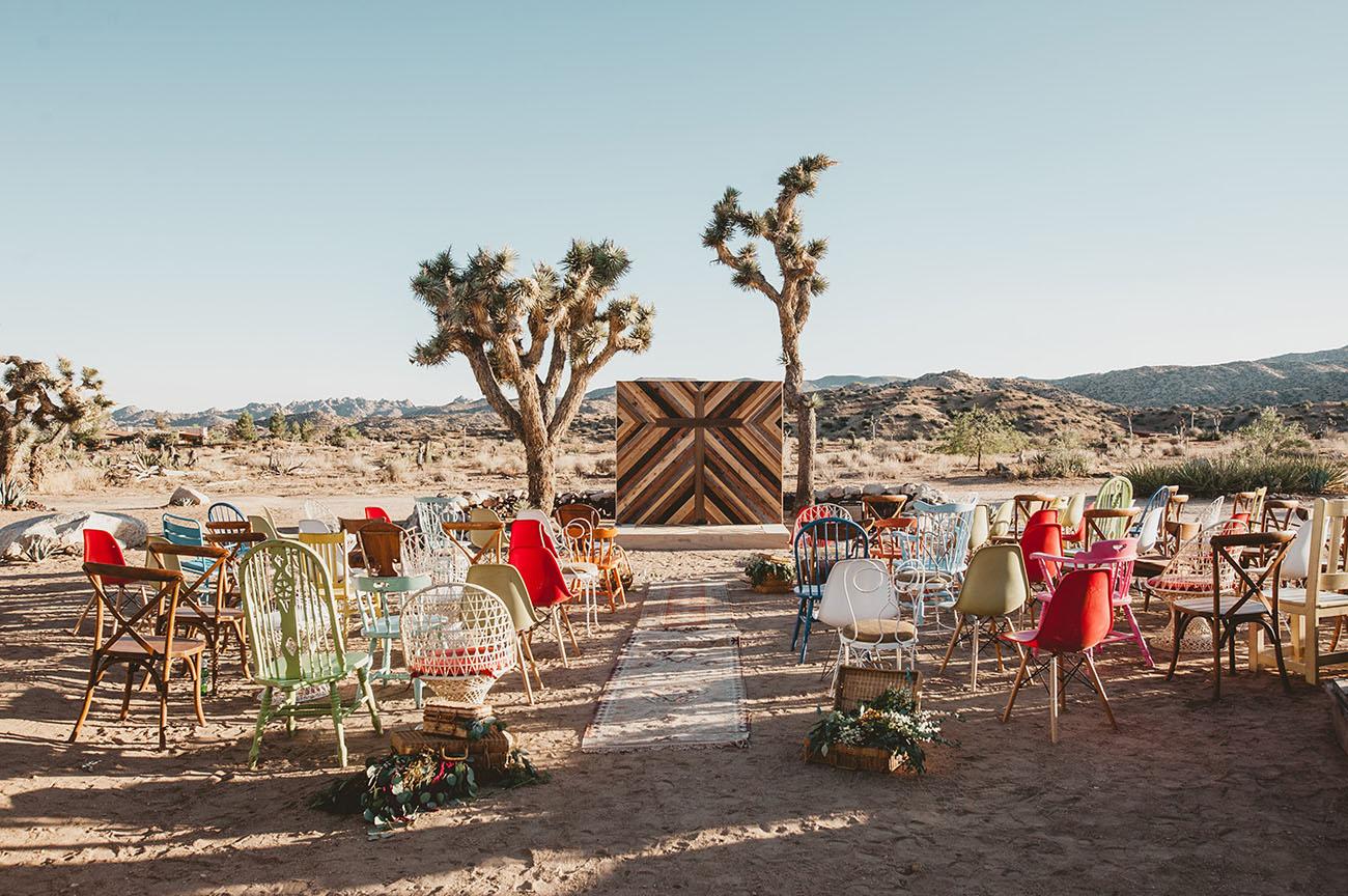 Eclectic DIY Desert Wedding