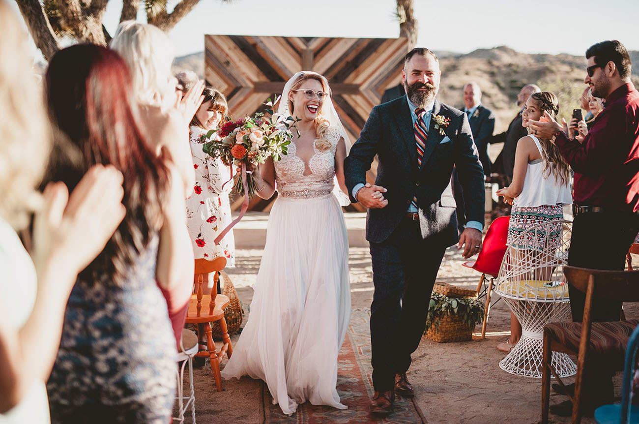 Eclectic DIY Desert Wedding