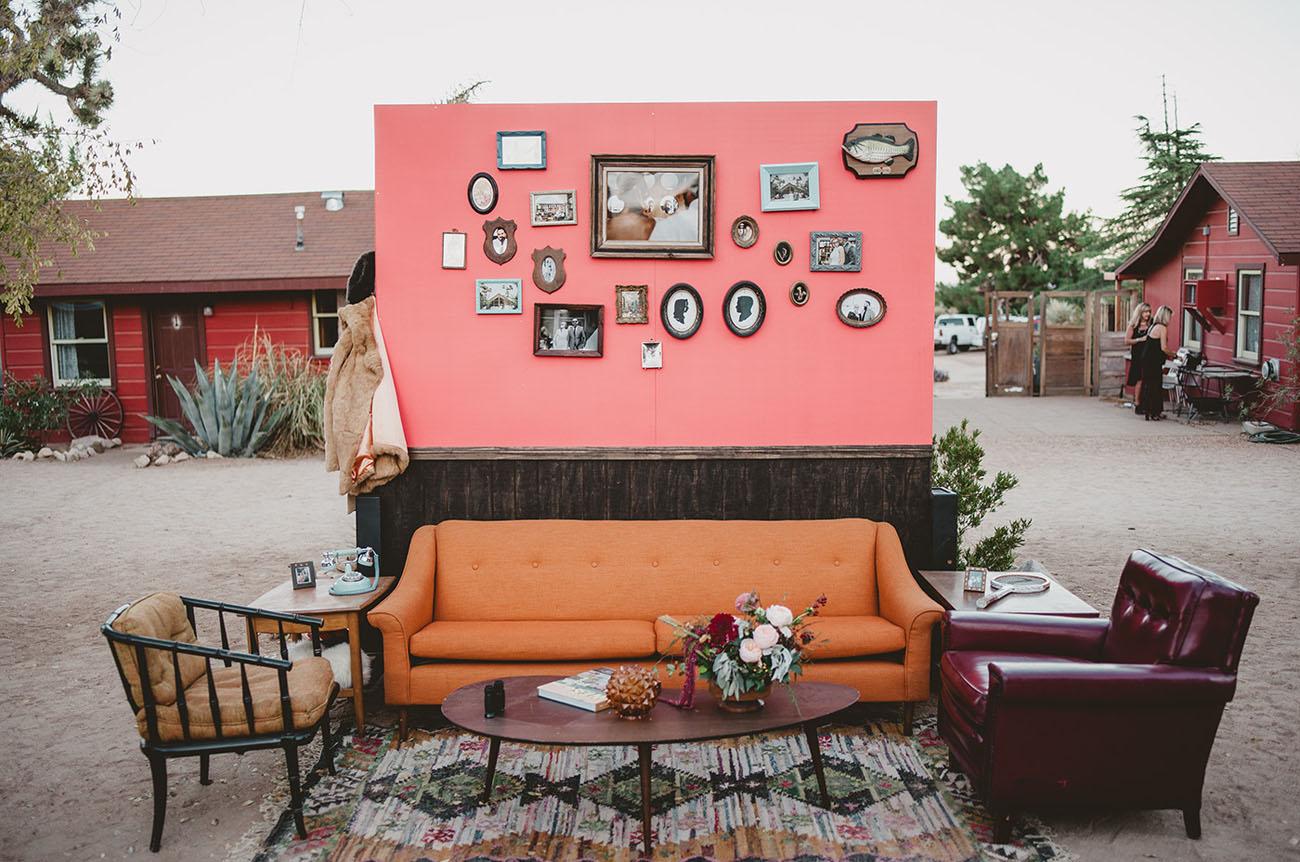 vintage pink lounge