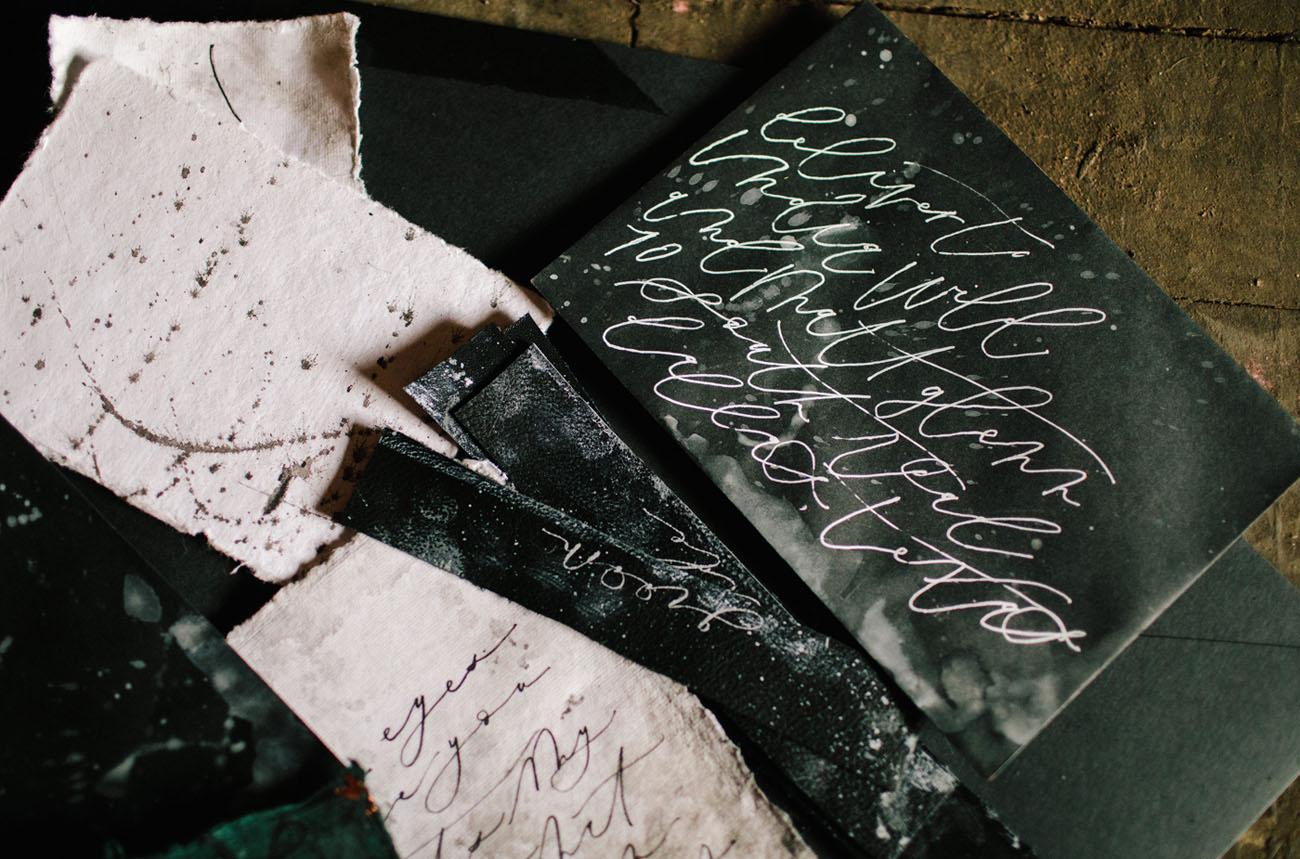 dark paper goods
