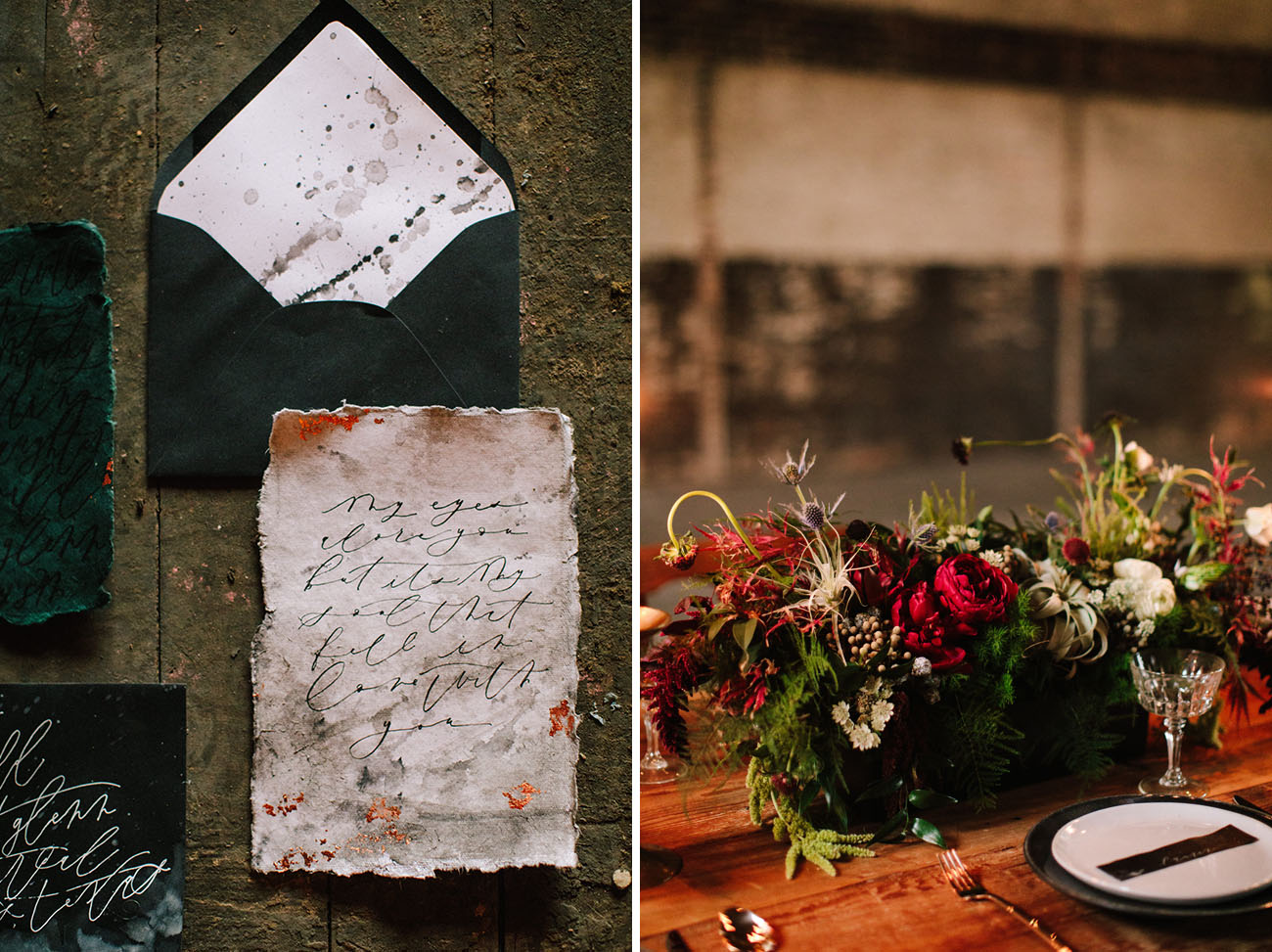 Dark Romantic Wedding Inspiration