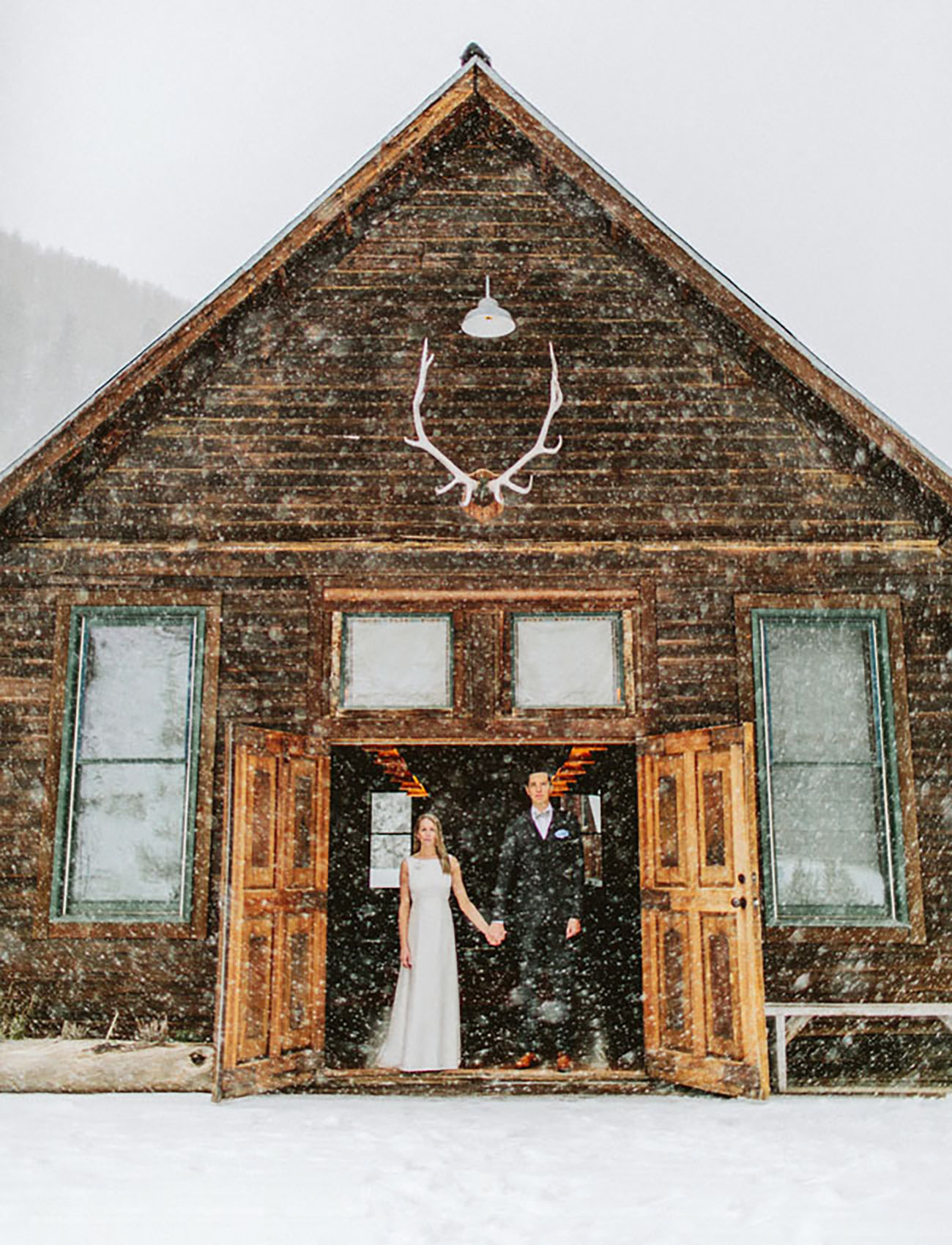 If snow is your thing, head to Hot Springs Dolores, Colorado to elope while flurries add the ambiance
