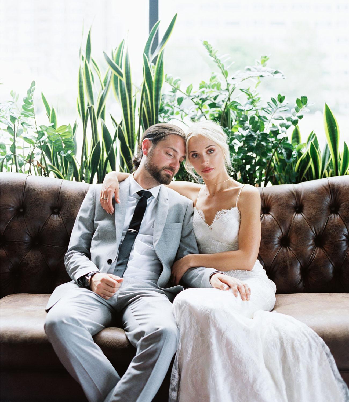 Modern + Organic Jersey City Wedding