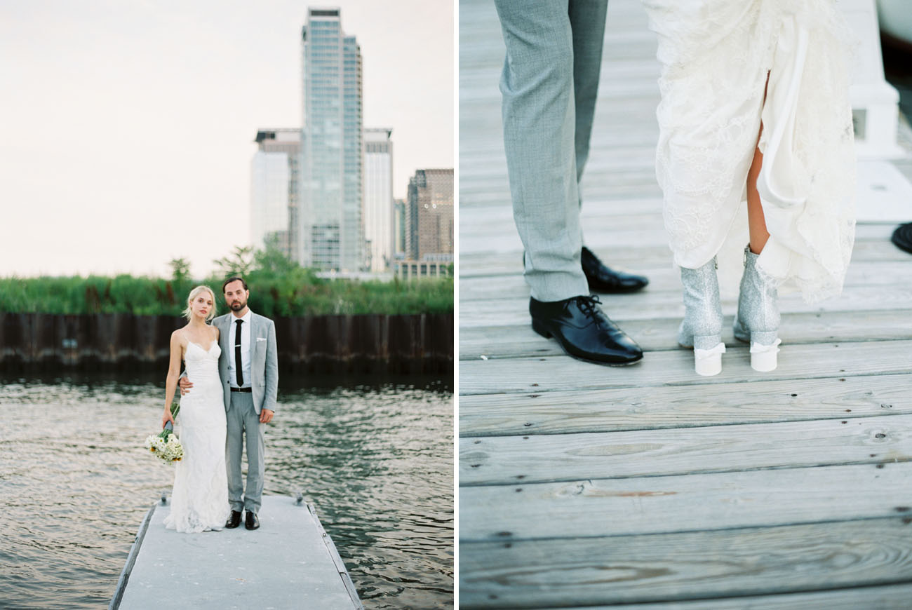 Modern + Organic Jersey City Wedding