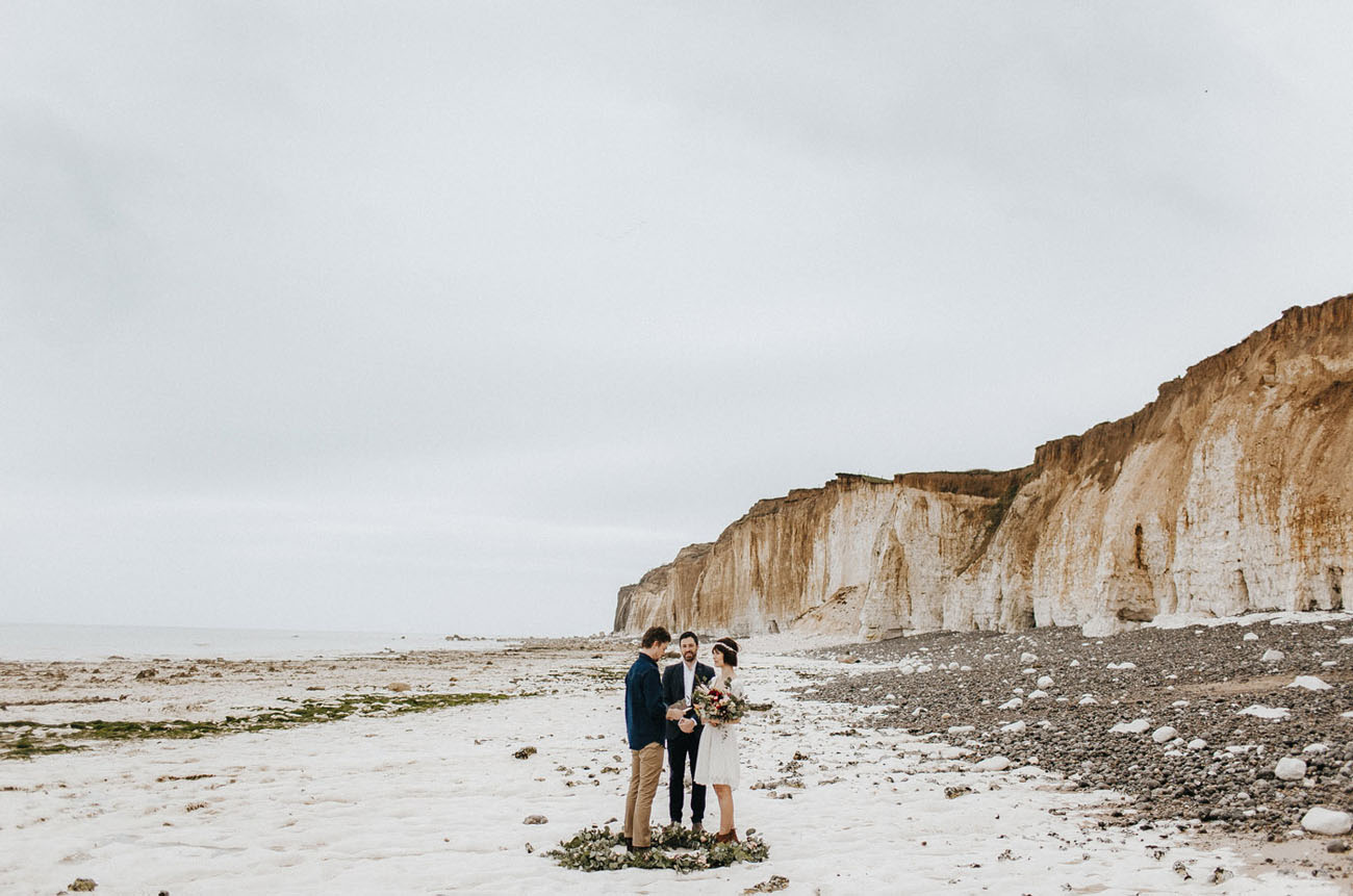 Normandy Beach in France is a unique coastal spot for eloping couples