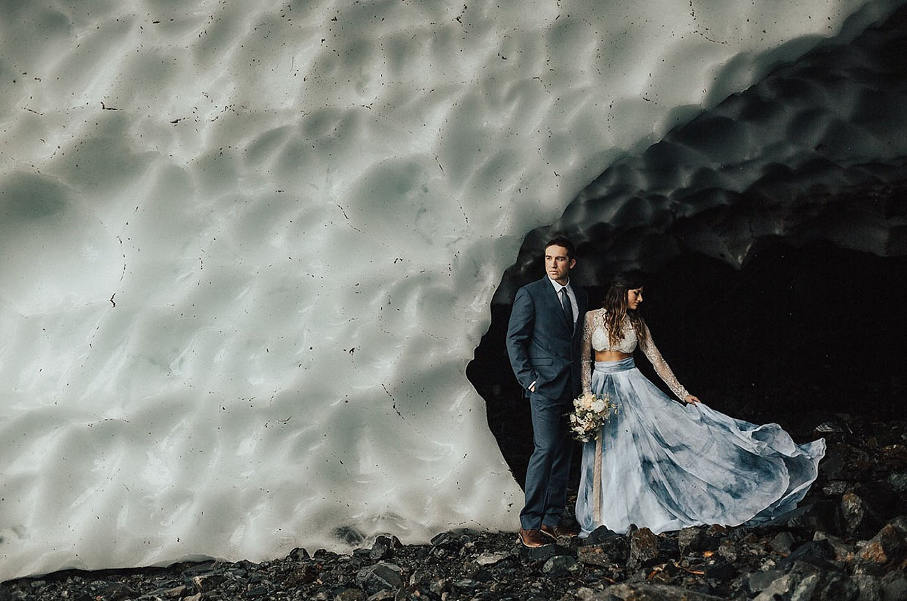 Ice Cave Elopement Inspiration