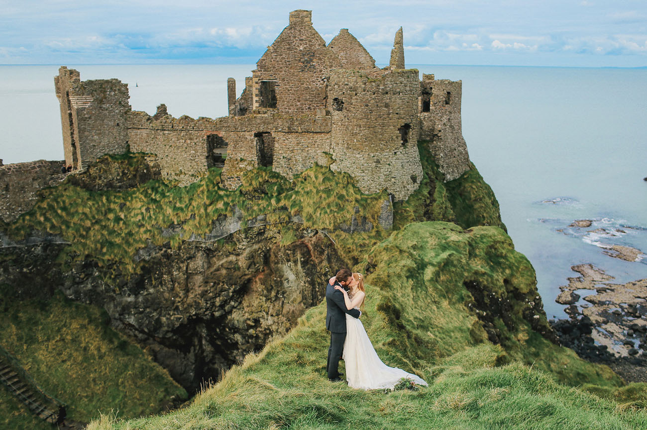 A castle in Ireland is the perfect for an historic and stunning elopement