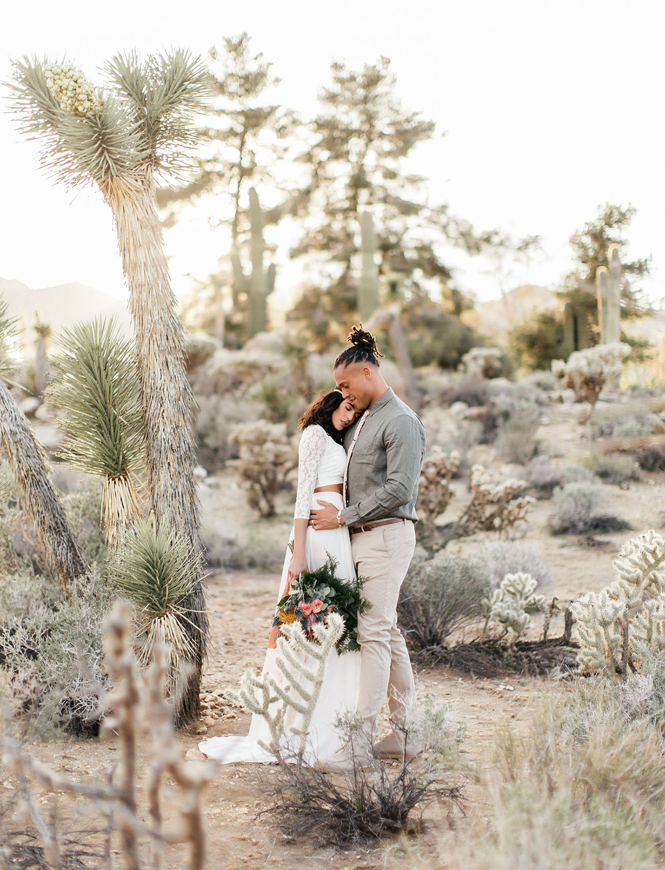 Joshua Tree isn't just a U2 album, its a land full of these unique trees and a great elopement destination for adventurous couples