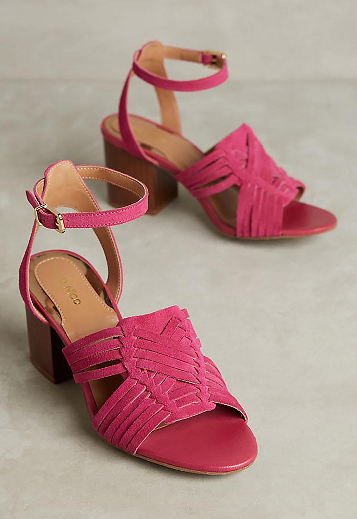 Woven Suede Heels | Green Wedding Shoes
