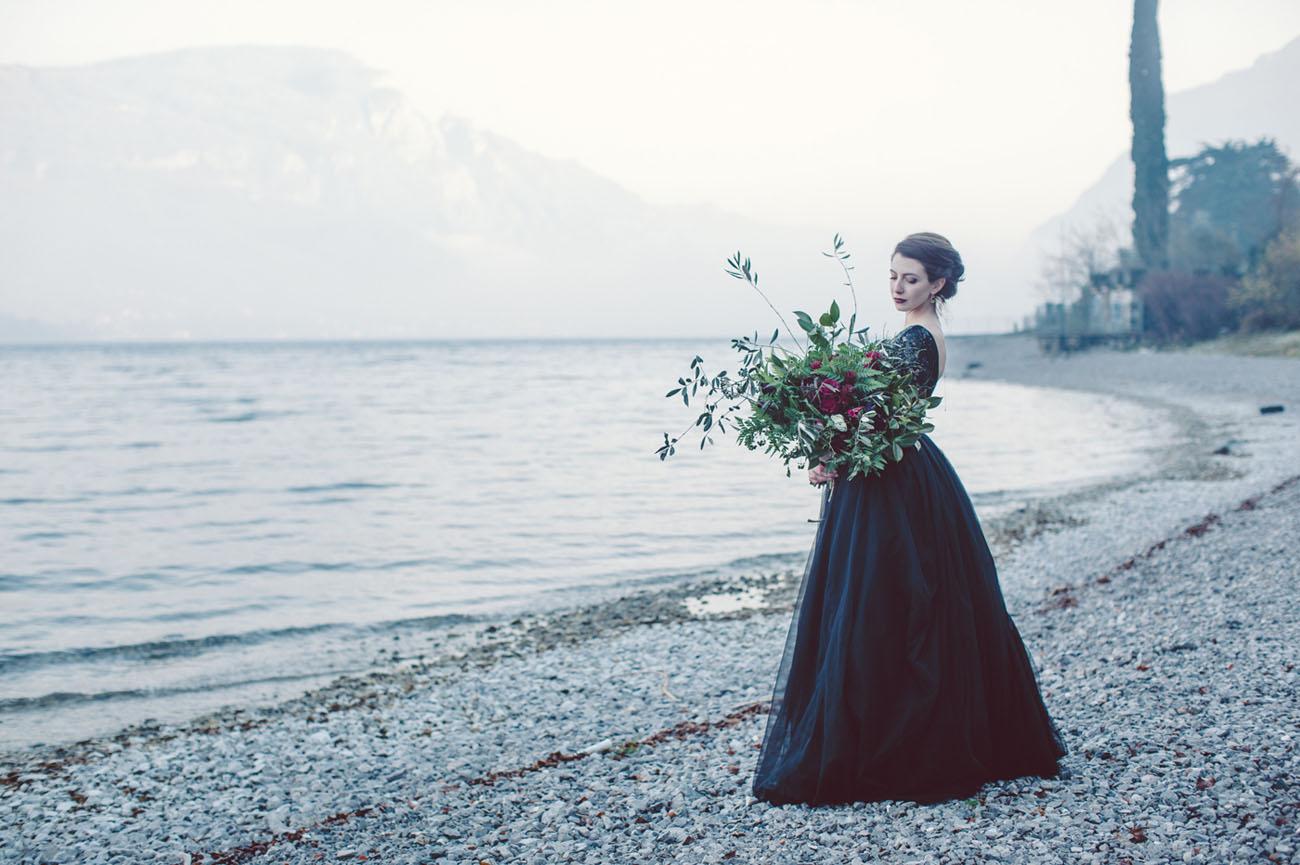 black tulle dress