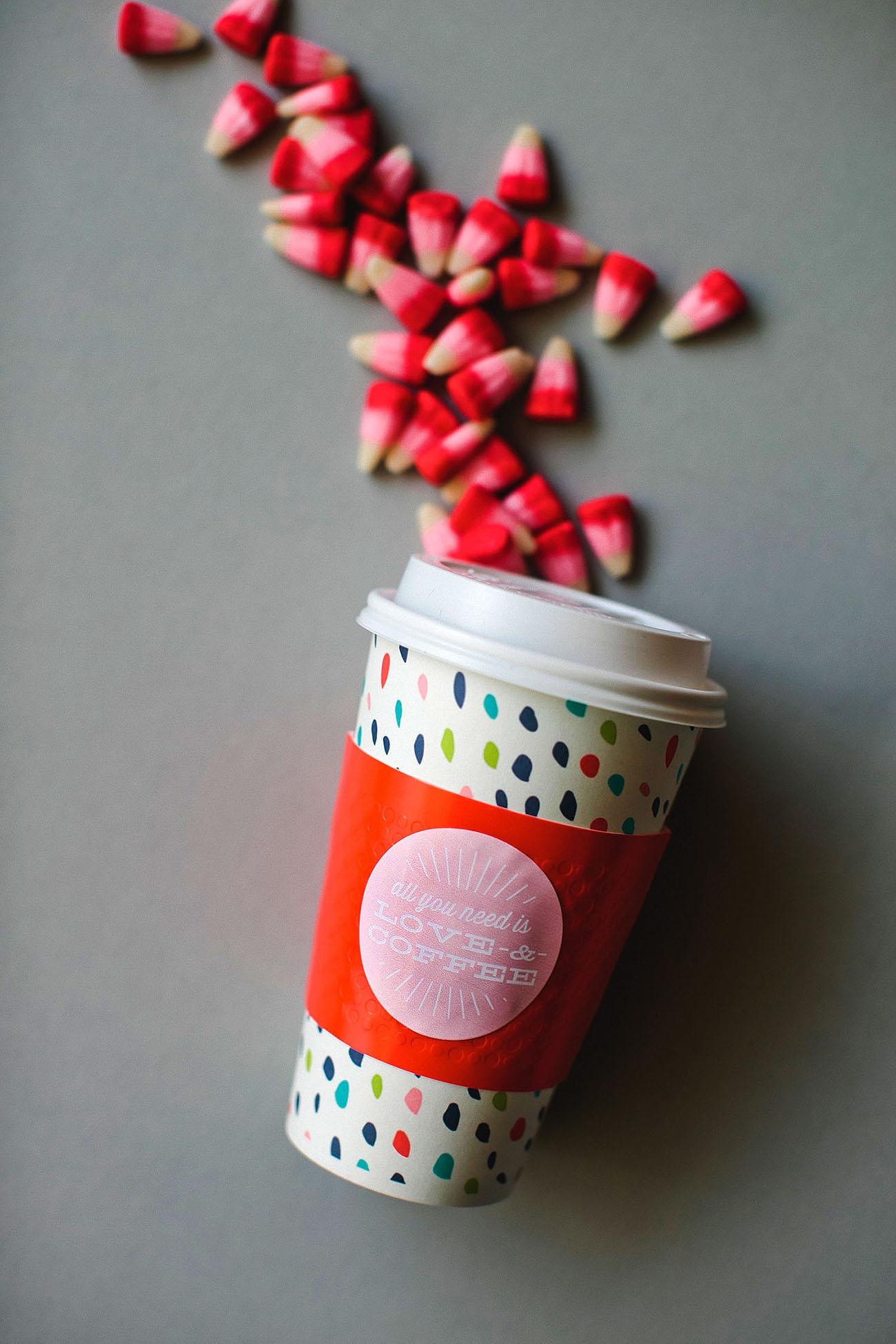 love and coffee sleeve