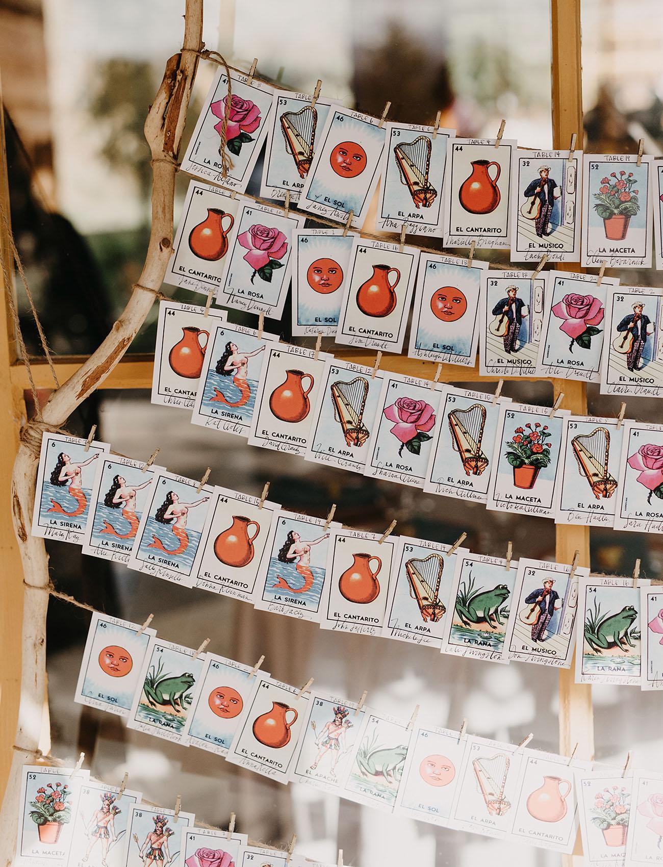veggie seed escort cards