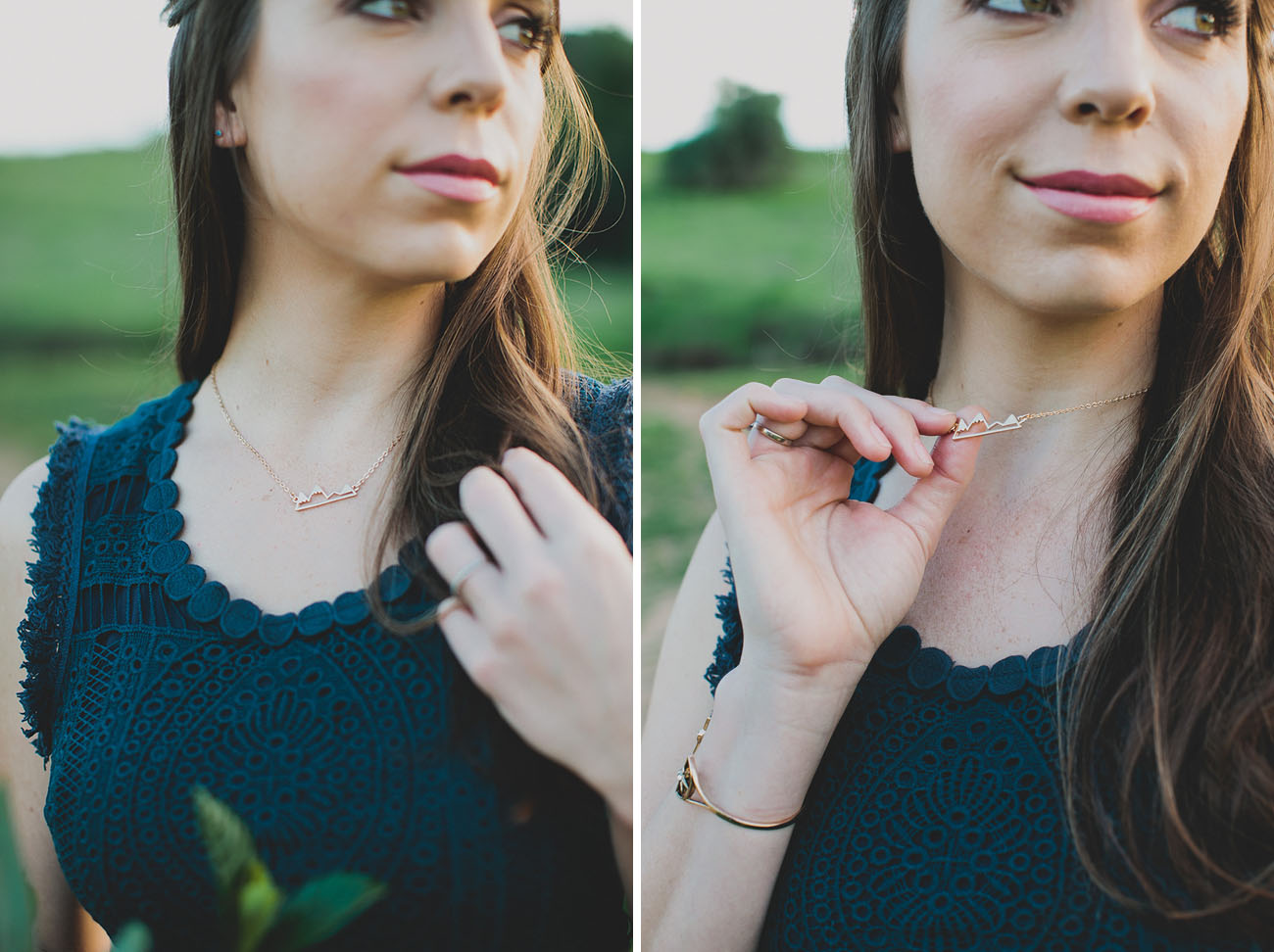 gold dainty necklace