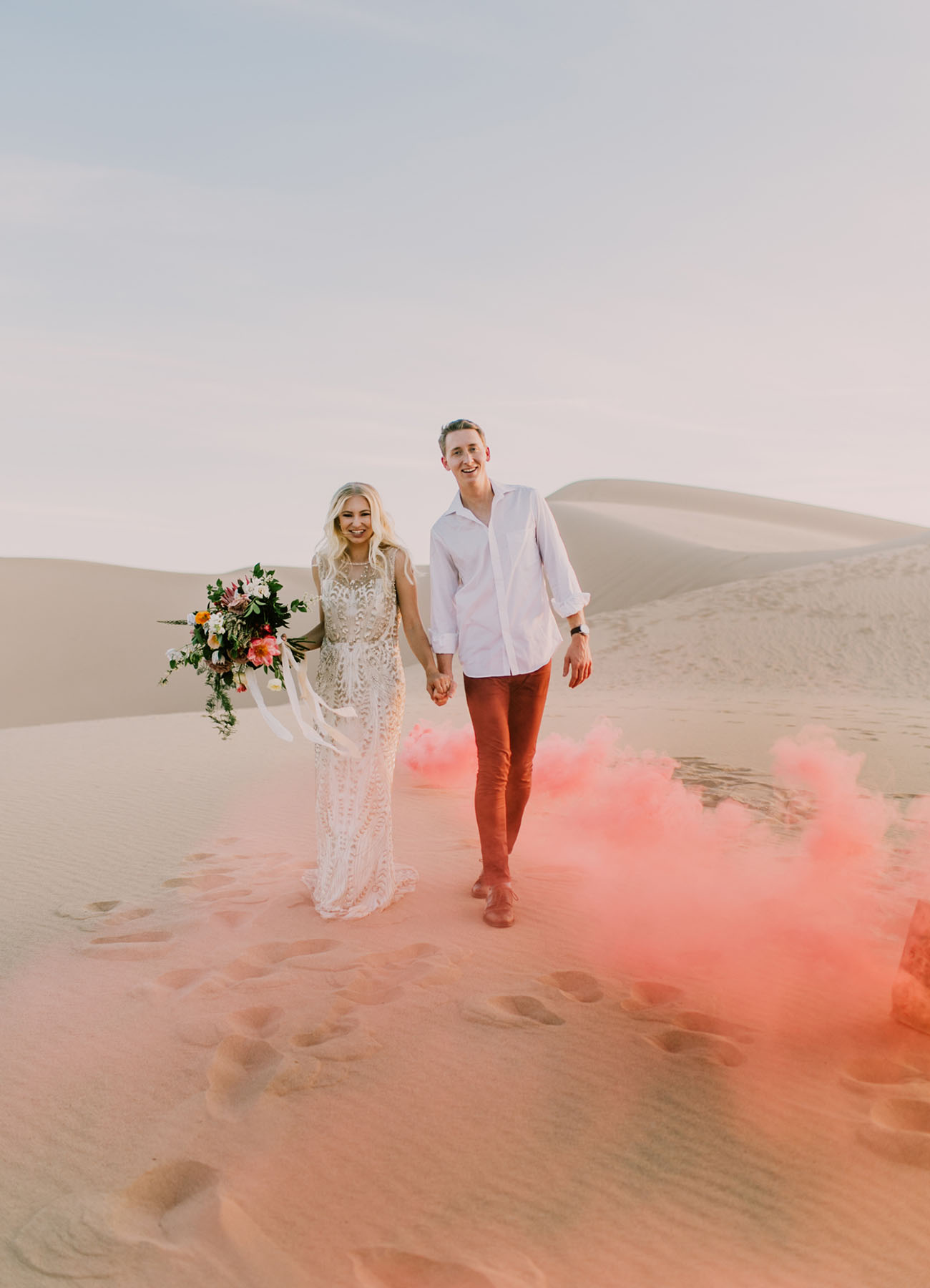 Time it right and you can have the Imperial Sand Dunes in Niland, California all to yourself to exchange vows