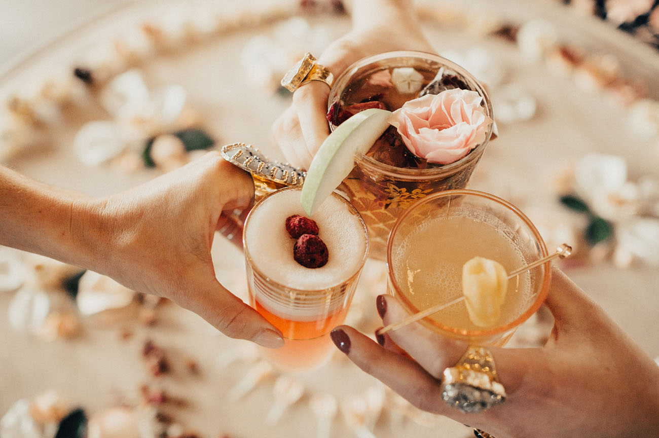 floral galentines day cocktail