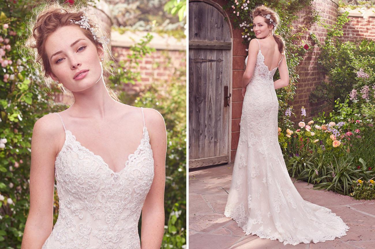 Affordable elegant gowns from rebecca ingram green for Trisha yearwood wedding dress