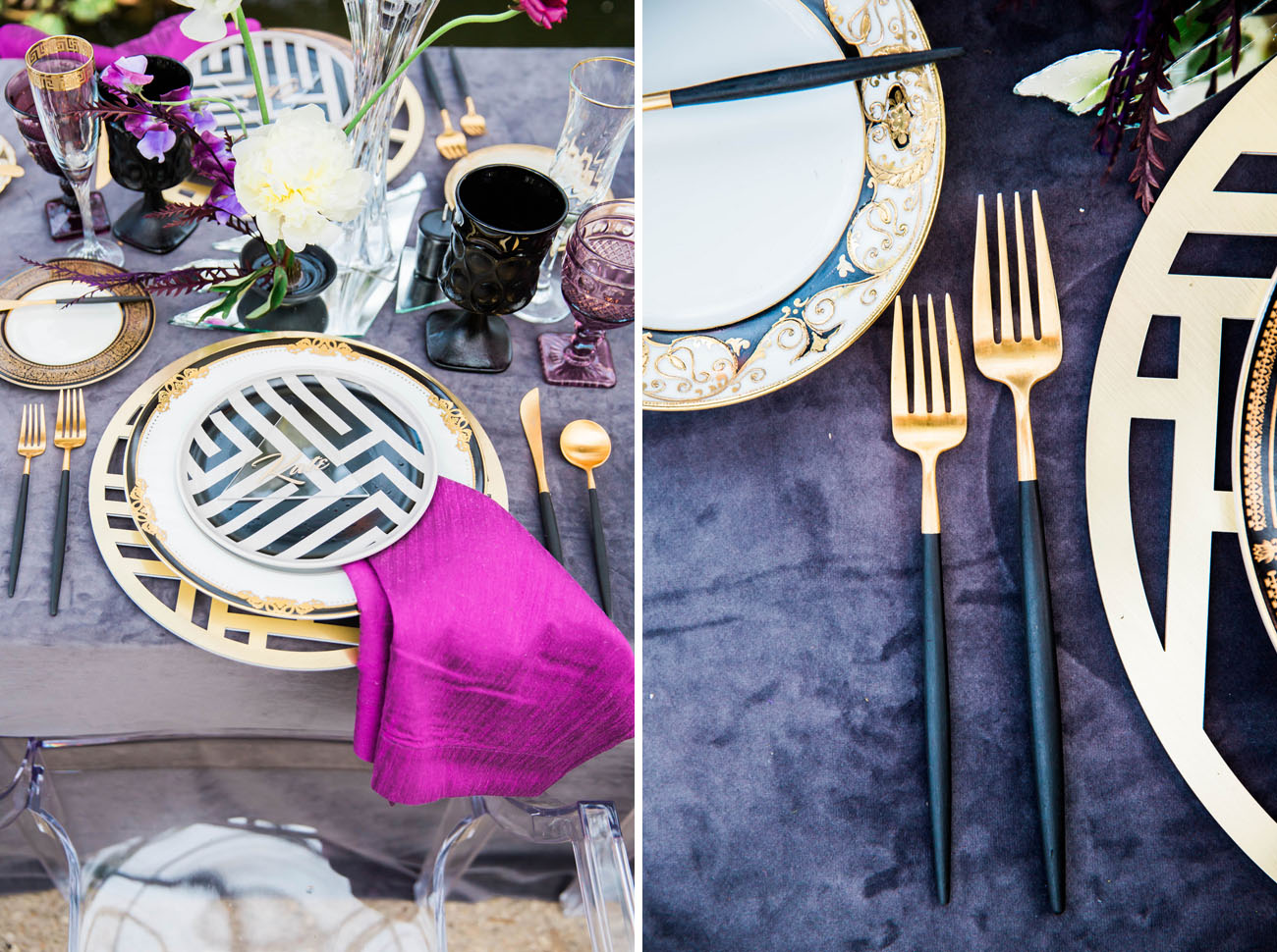 black dipped silverware