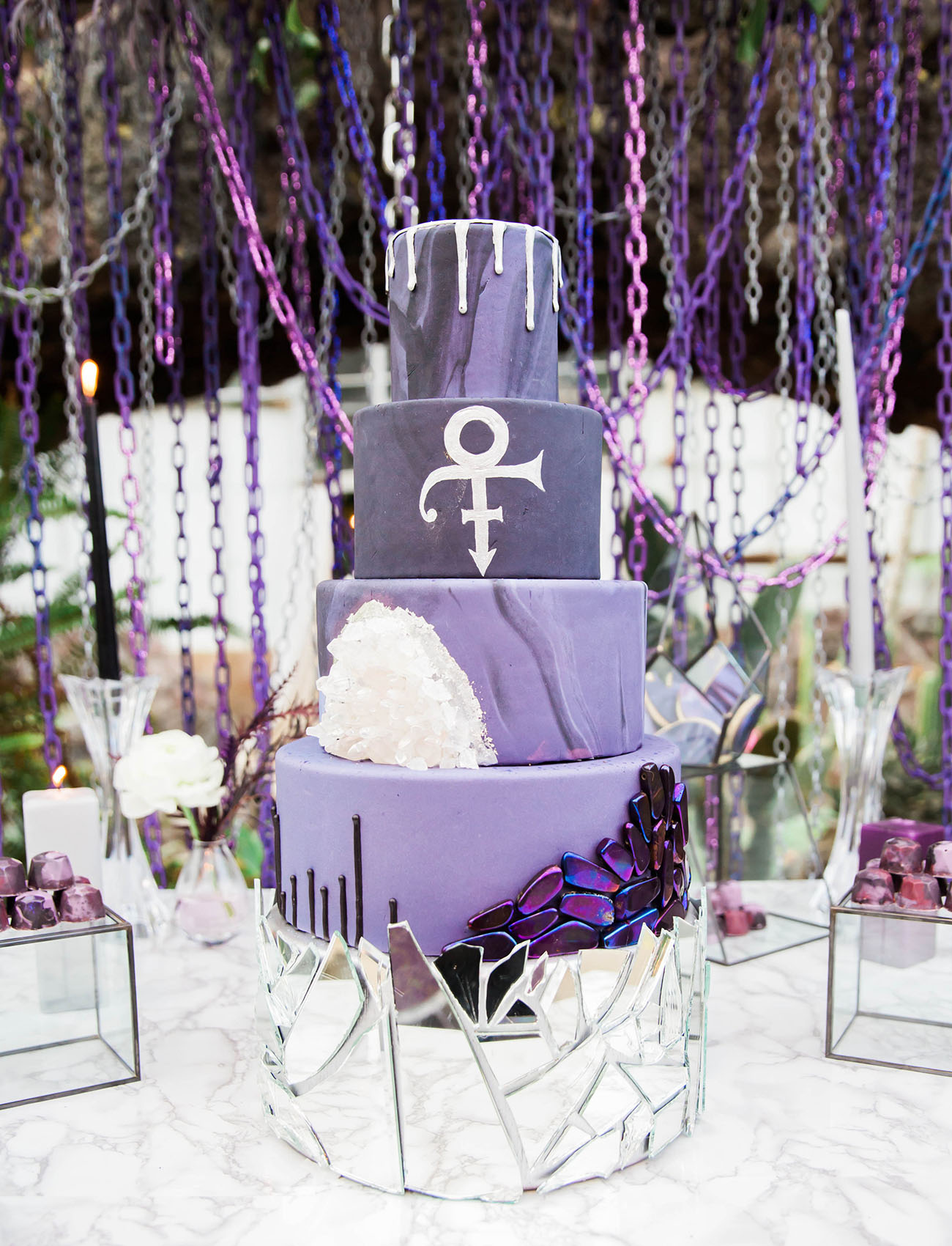 purple prince inspired cake