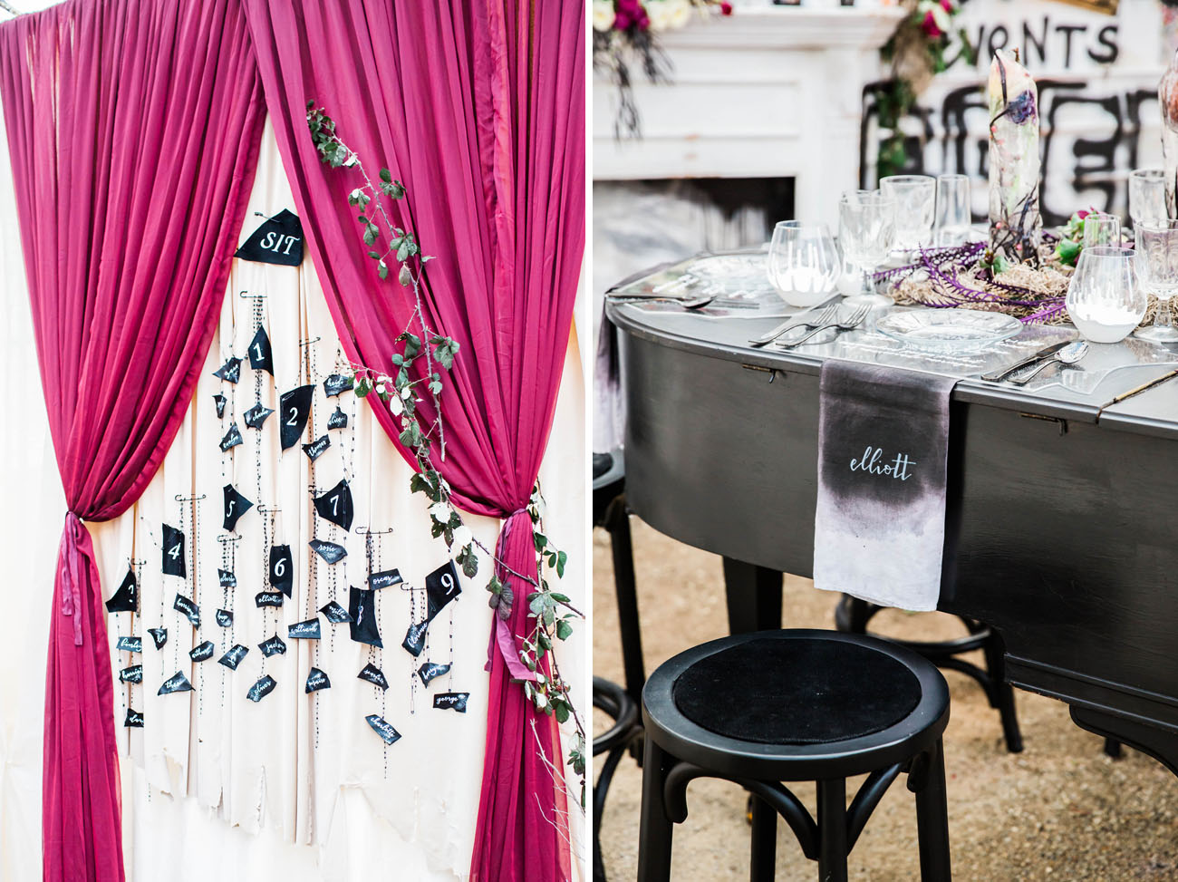 piano tablescape