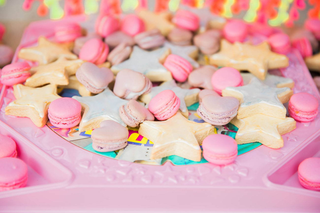 colorful pastel cookies