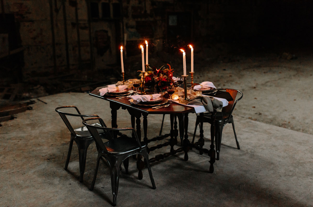 tapered candles tablescape
