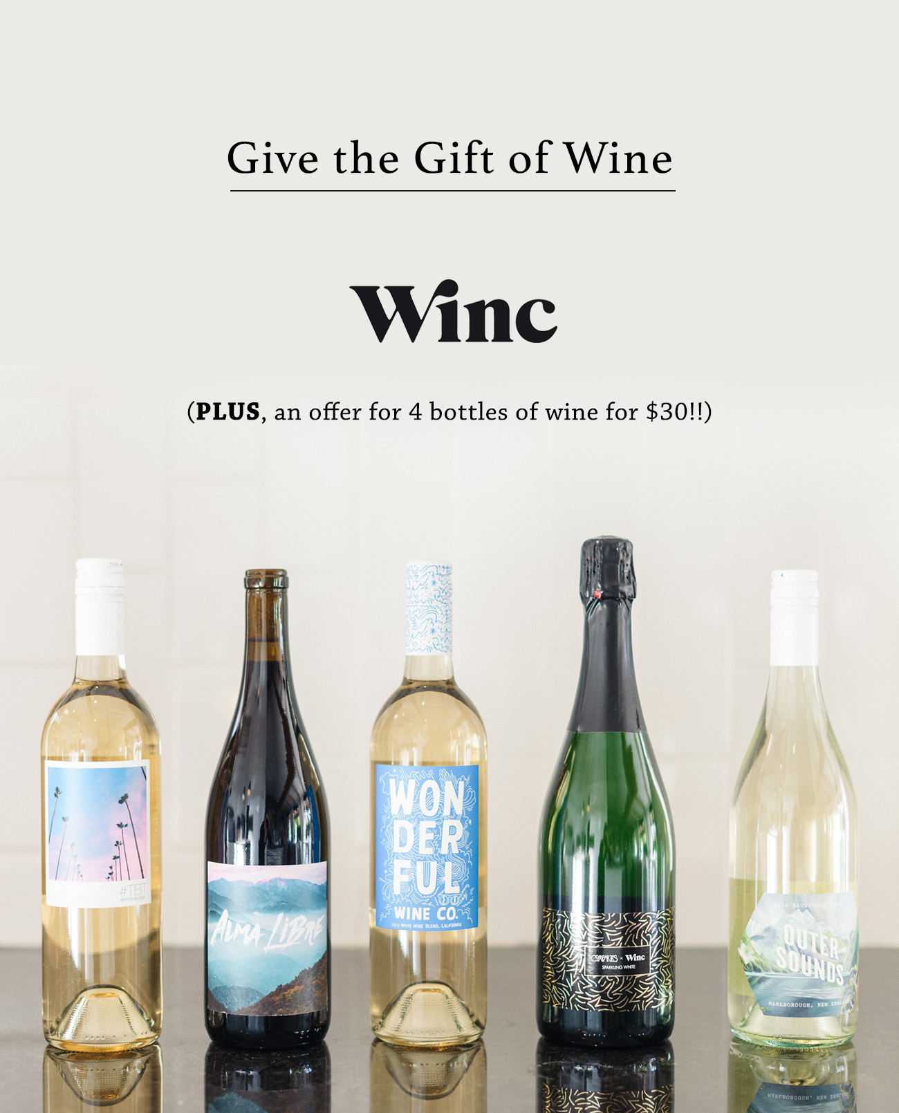 Give the gift of wine with winc