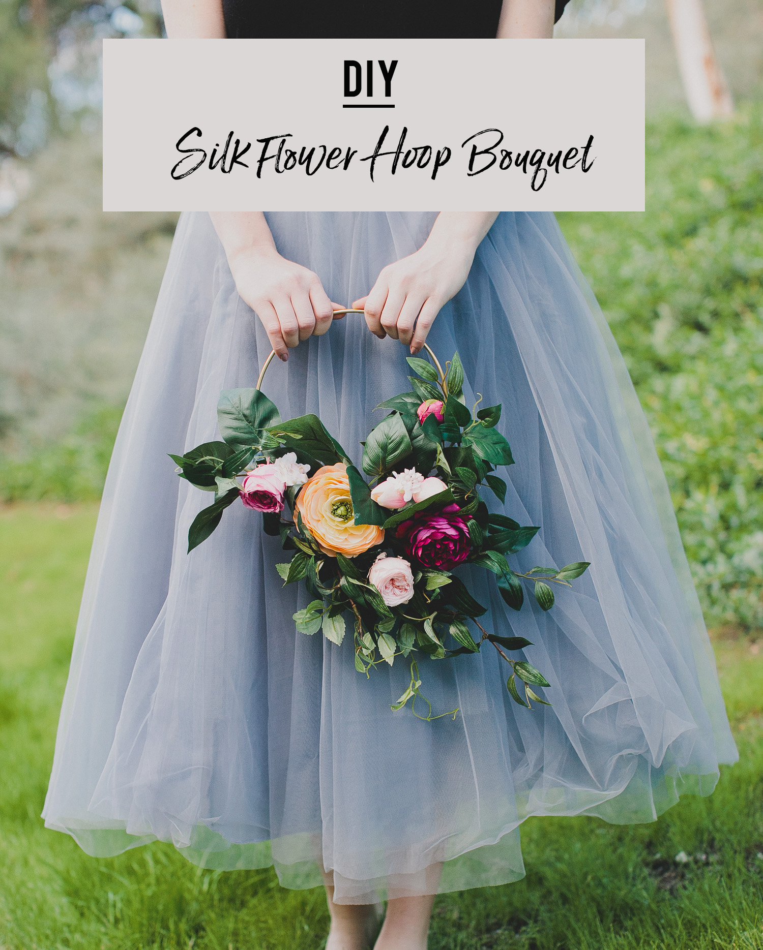 Silk Flower Hoop Bouquet DIY