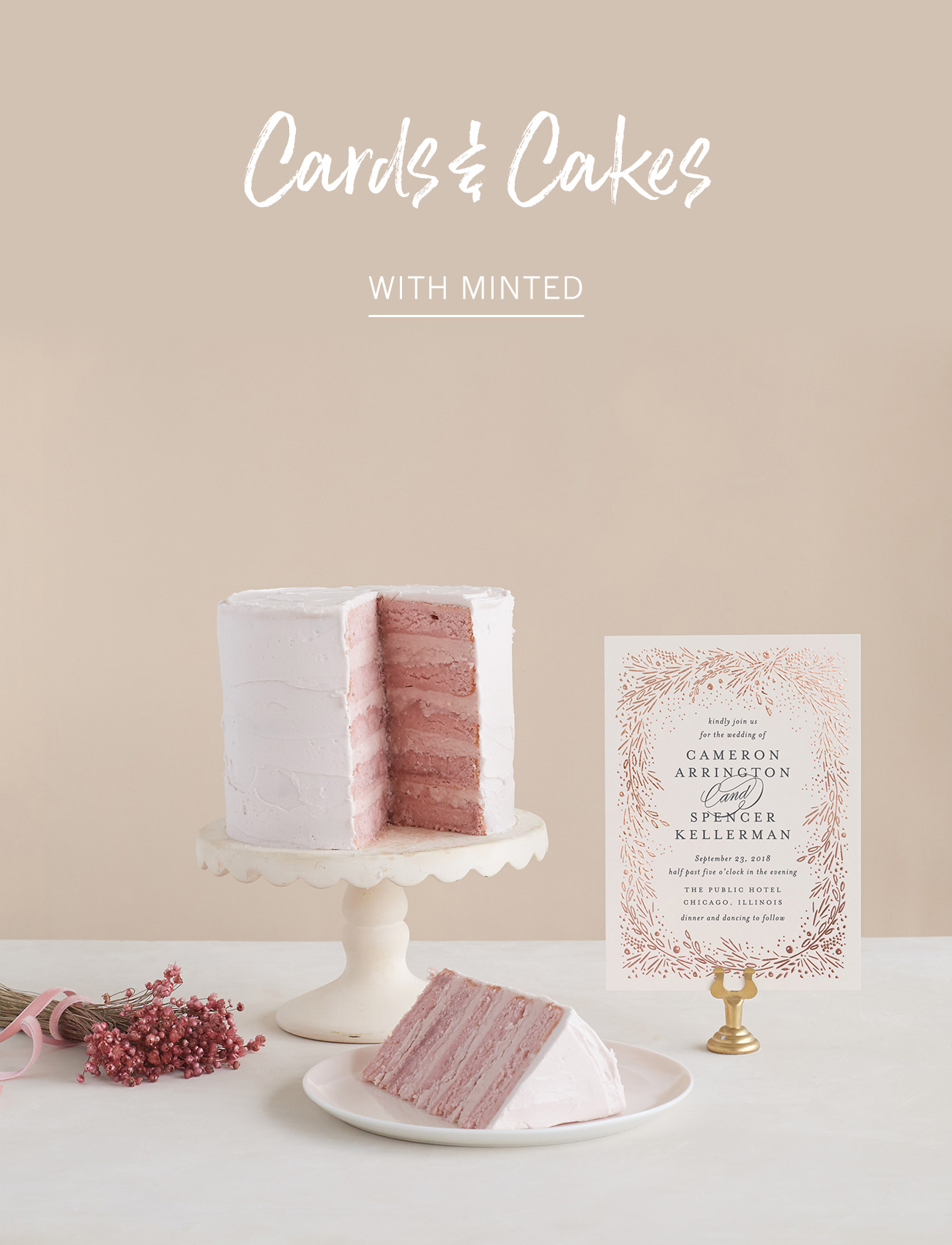 Cards and Cakes with Minted