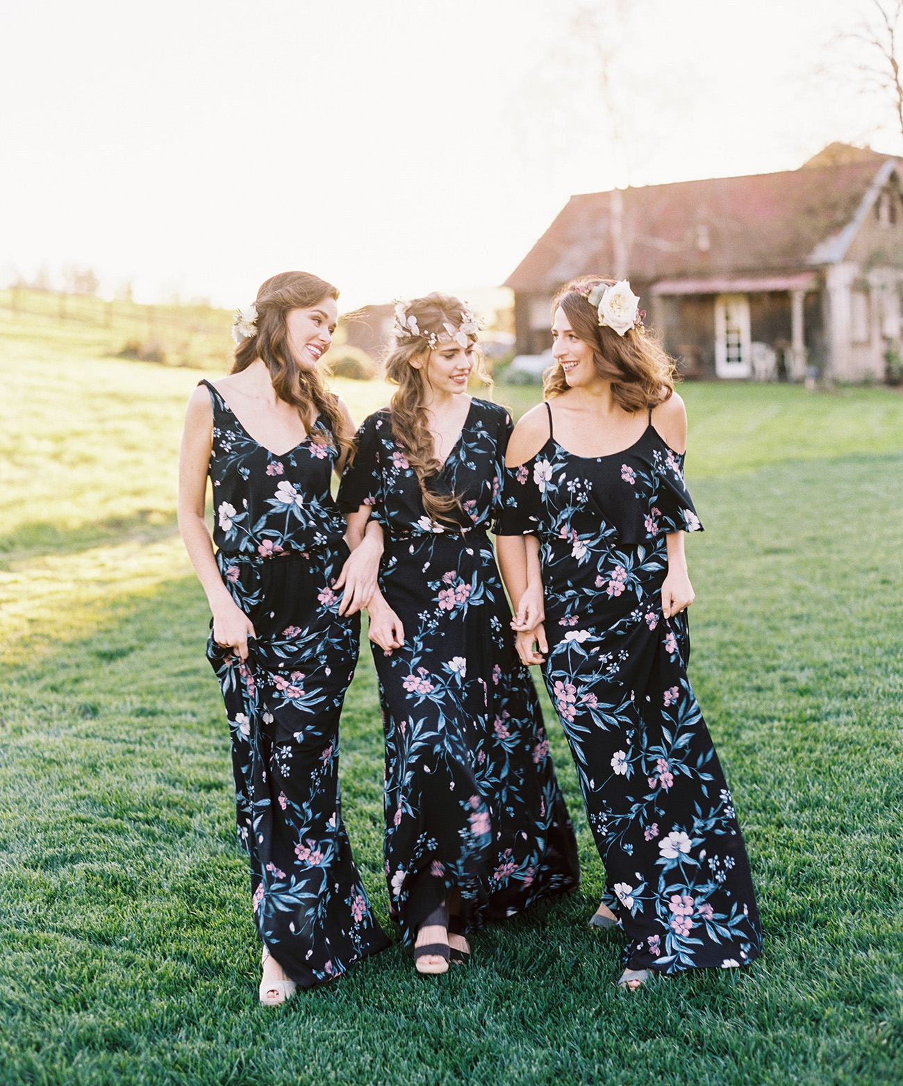 Show Me Your Mumu x Green Wedding Shoes bridesmaids dresses
