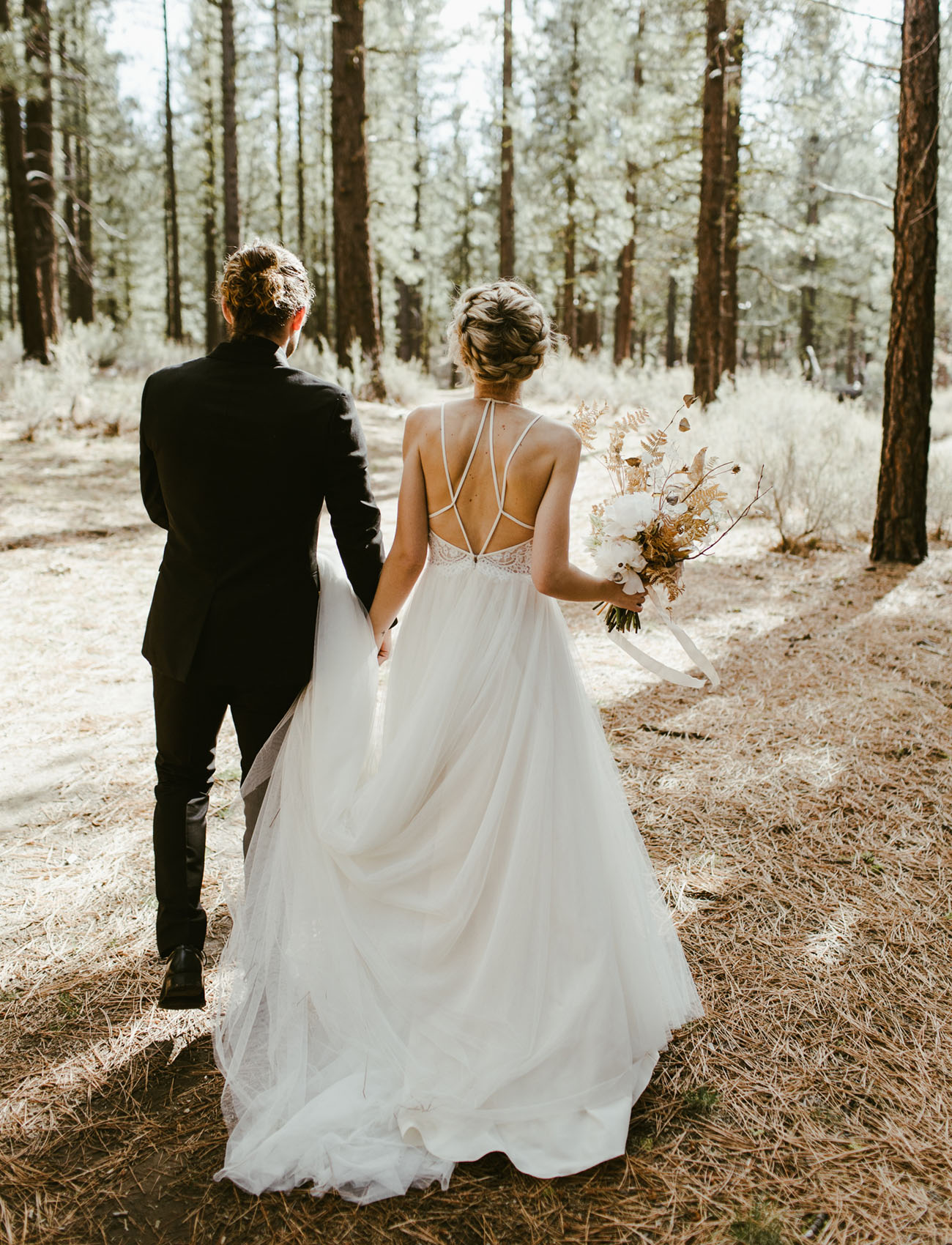Modern Edgy Forest Wedding In Northern California