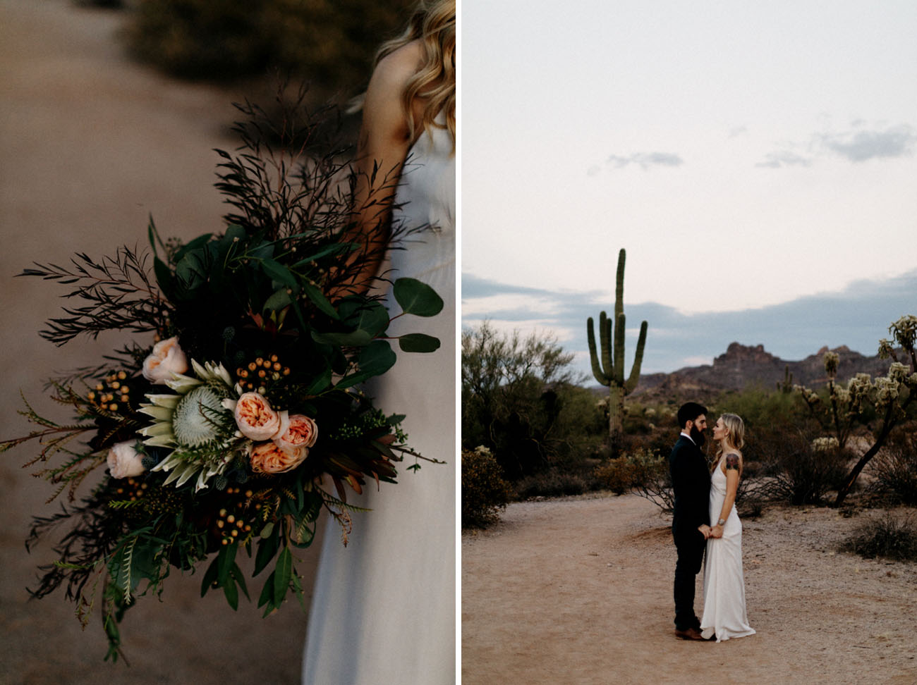 boho Arizona desert elopement