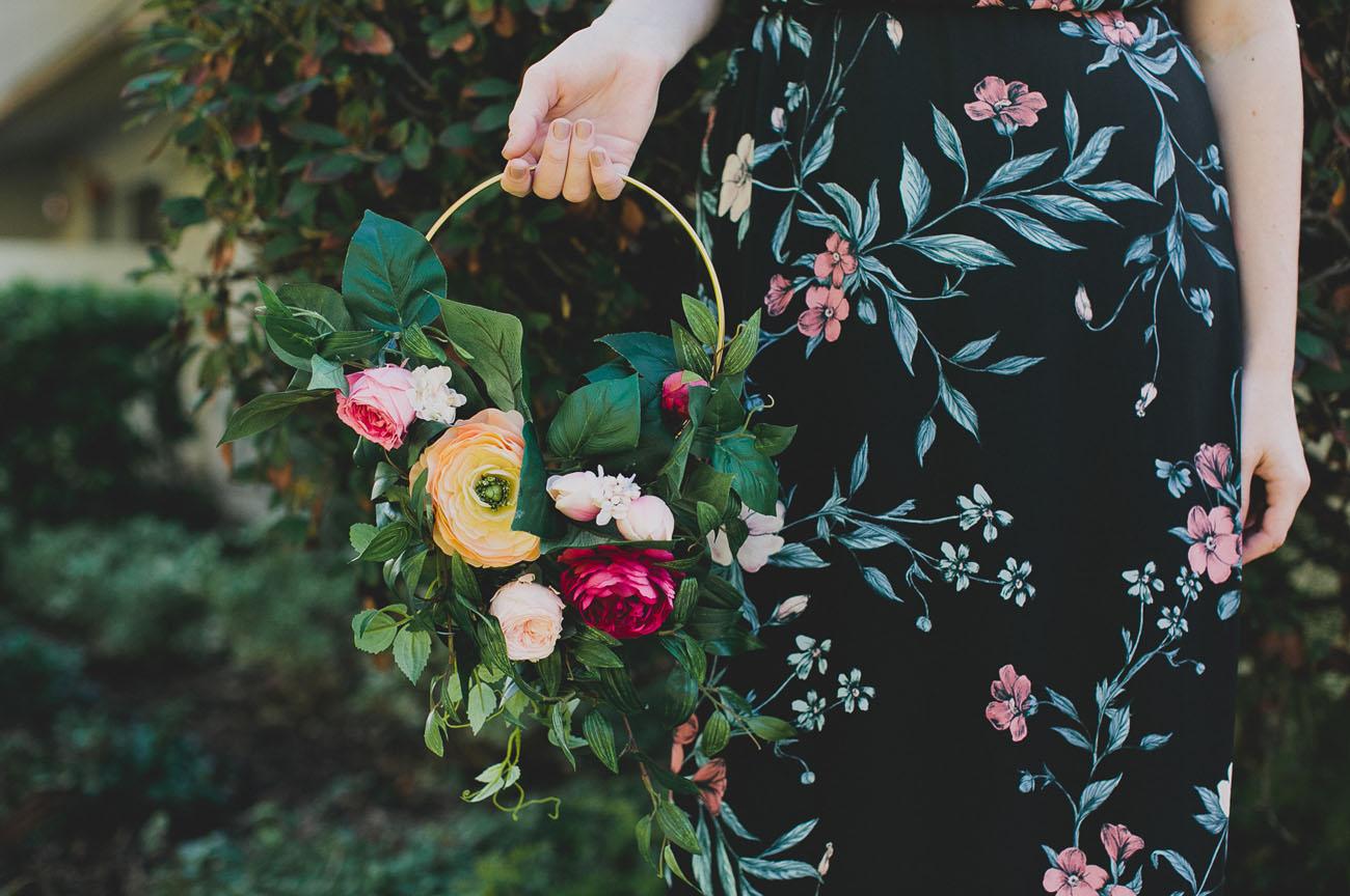 DIY Floral Hoop