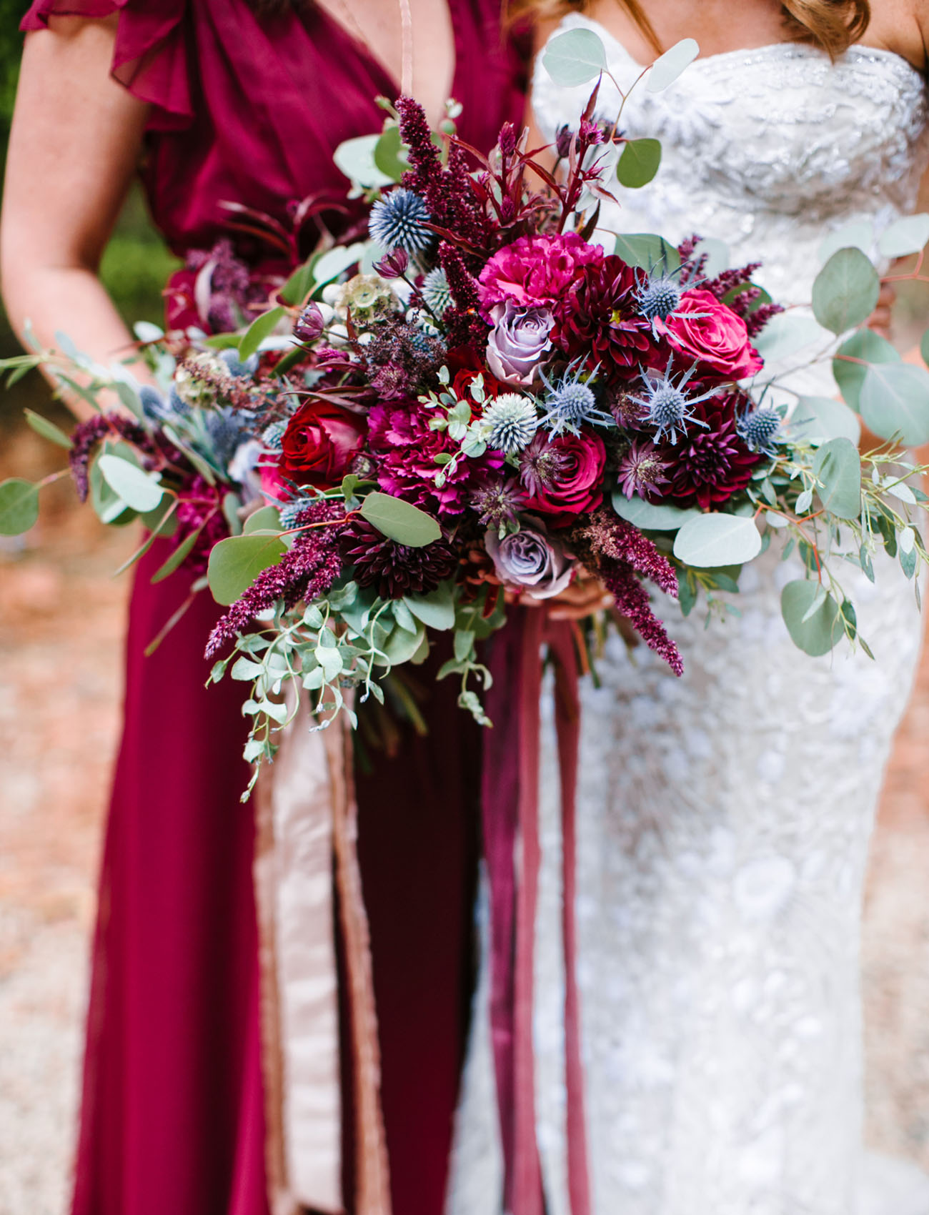 berry bridesmaid bouquets