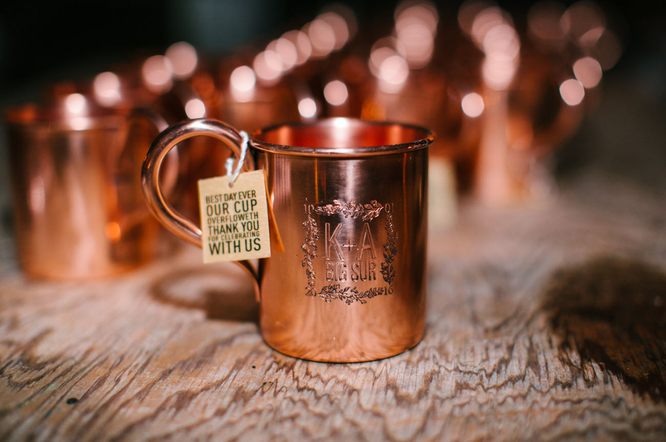 copper mug favors