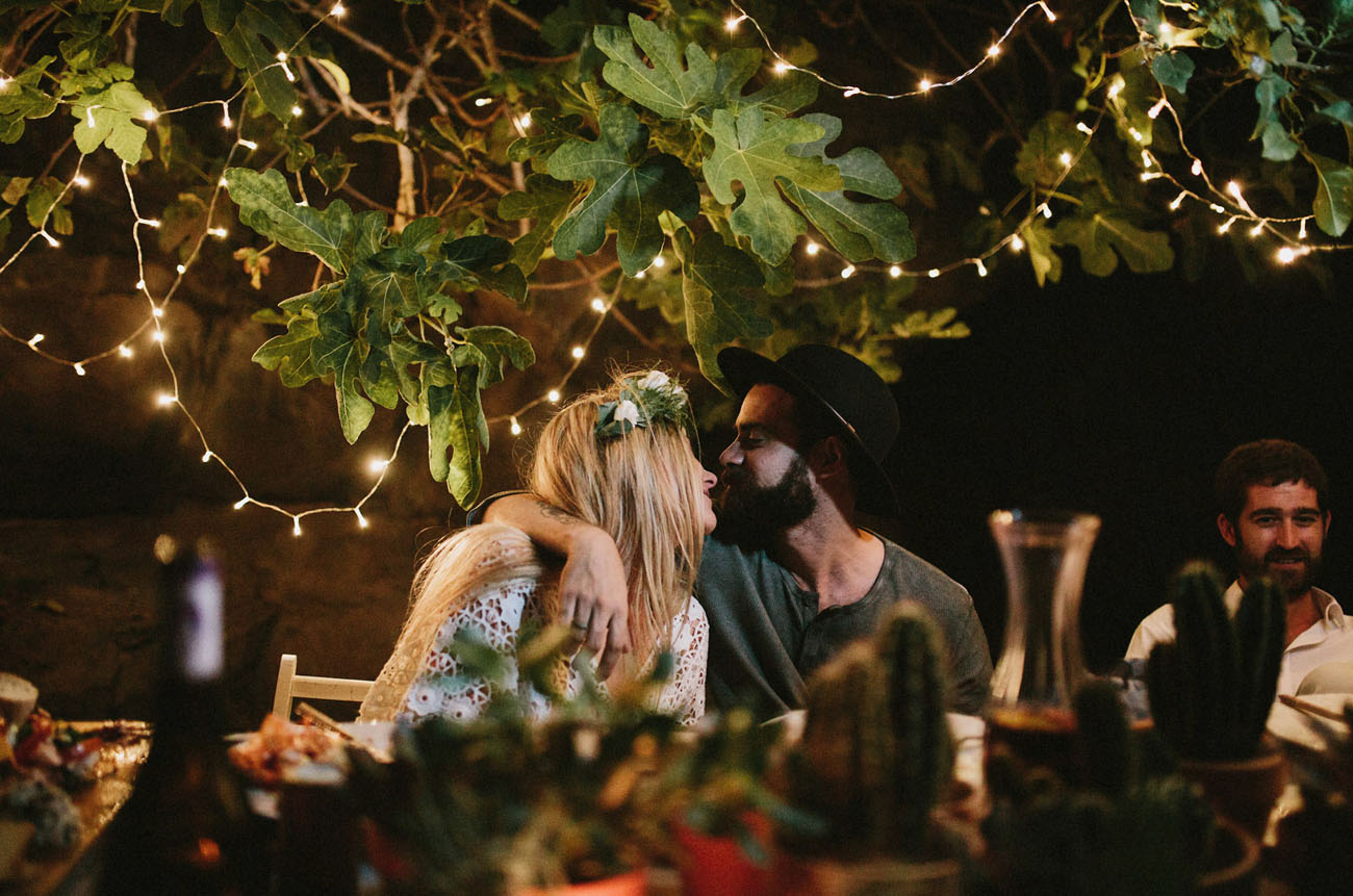 intimate dinner elopement