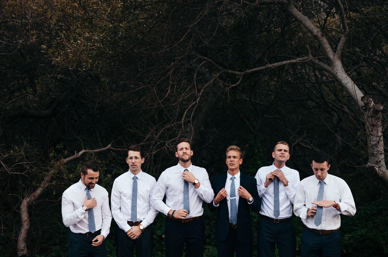 blue tie groomsmen