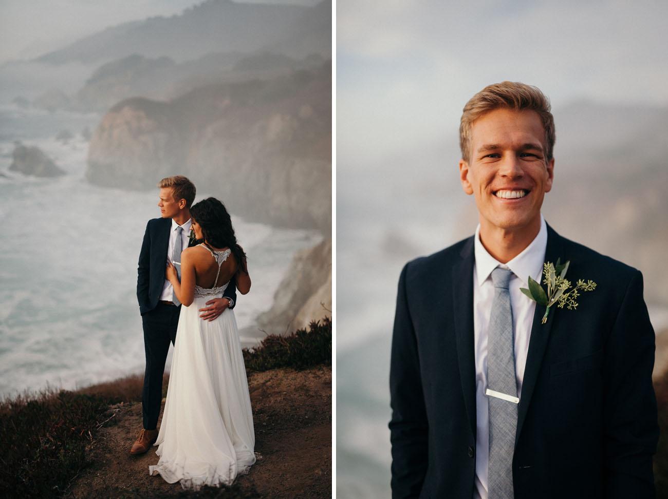 blue tie groom