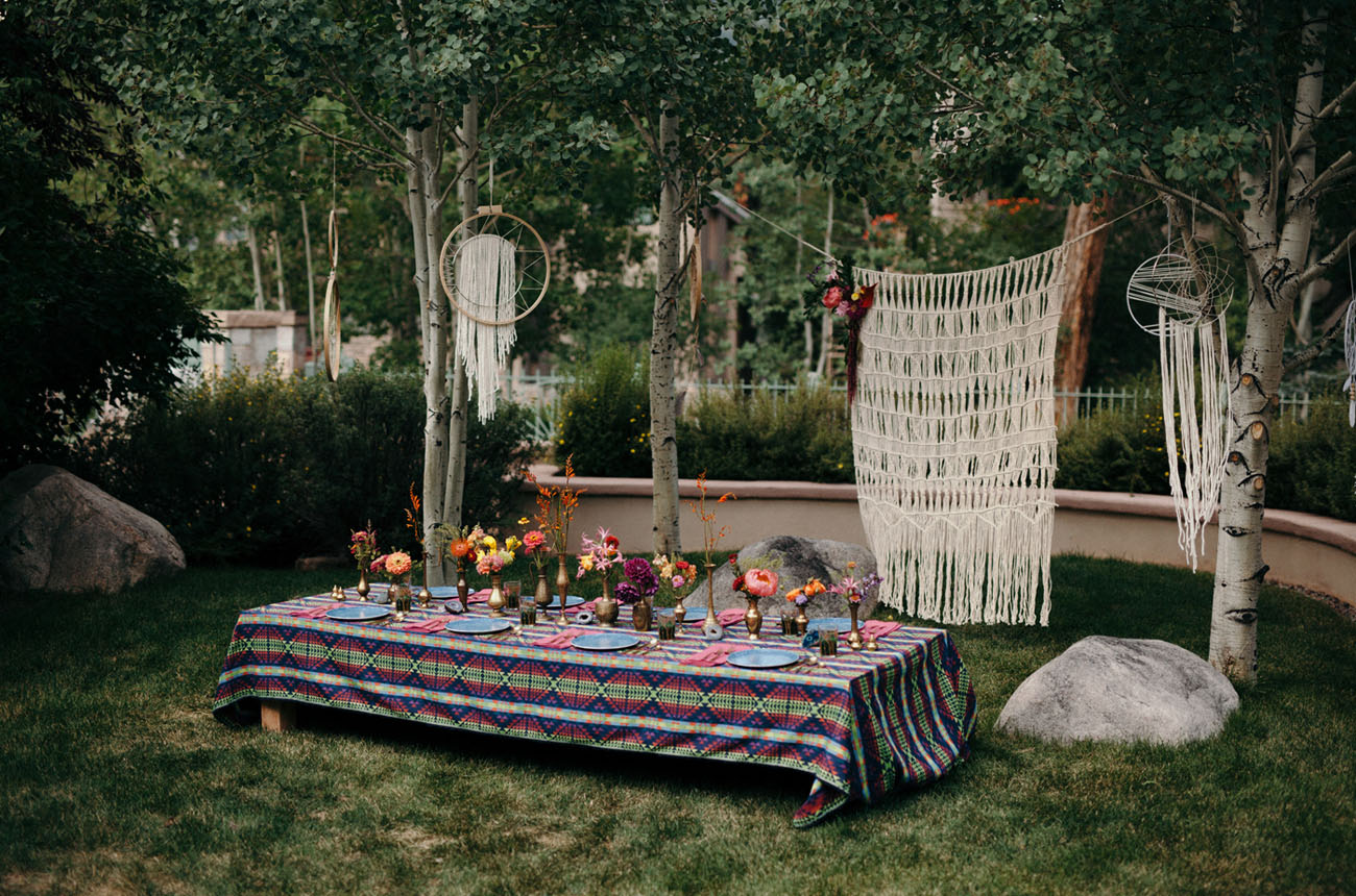 boho bridal lunch