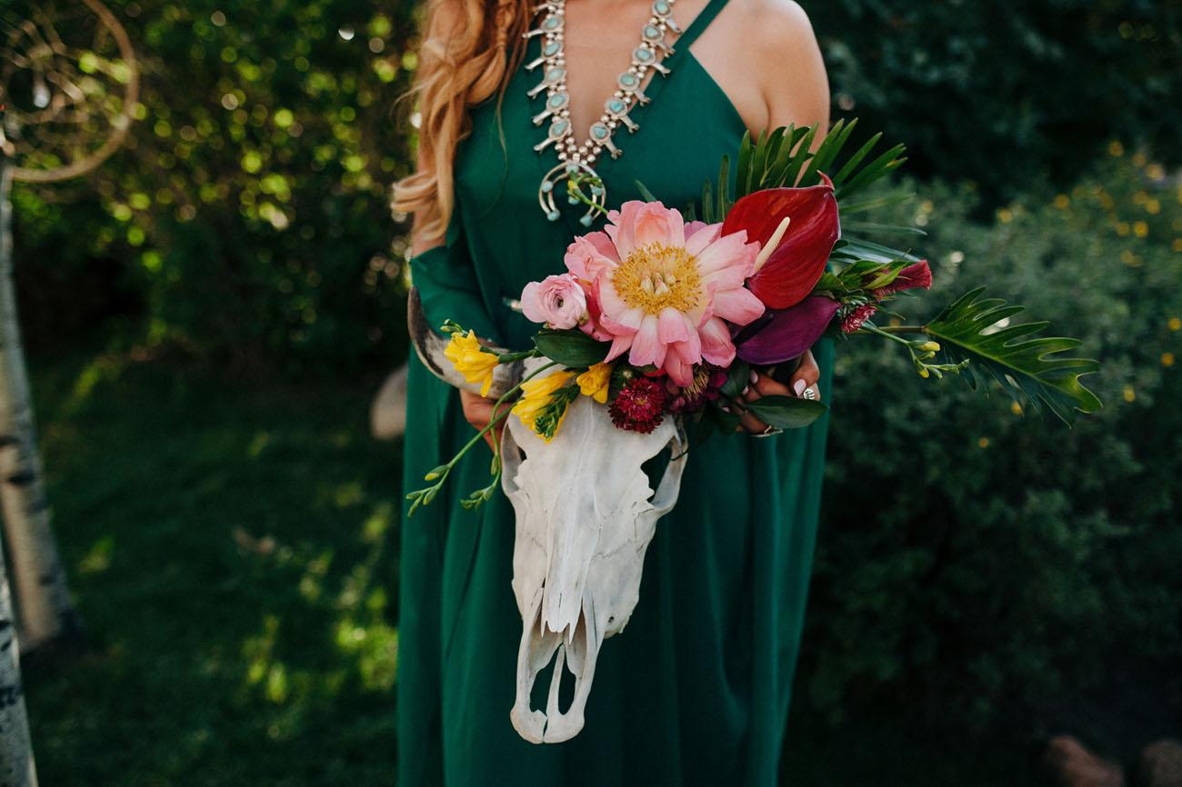 floral steer skull