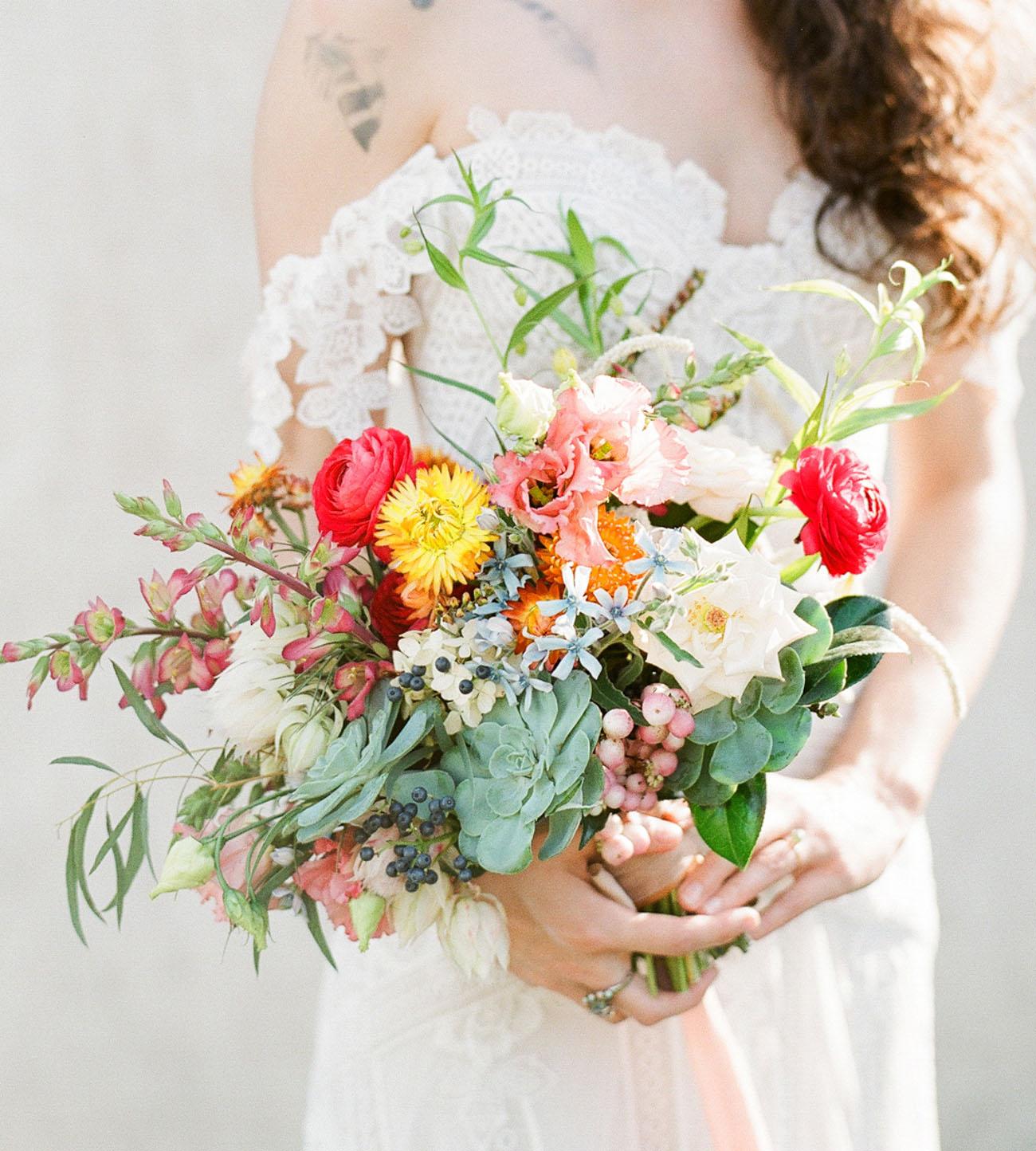 bright ranunculus bouquet