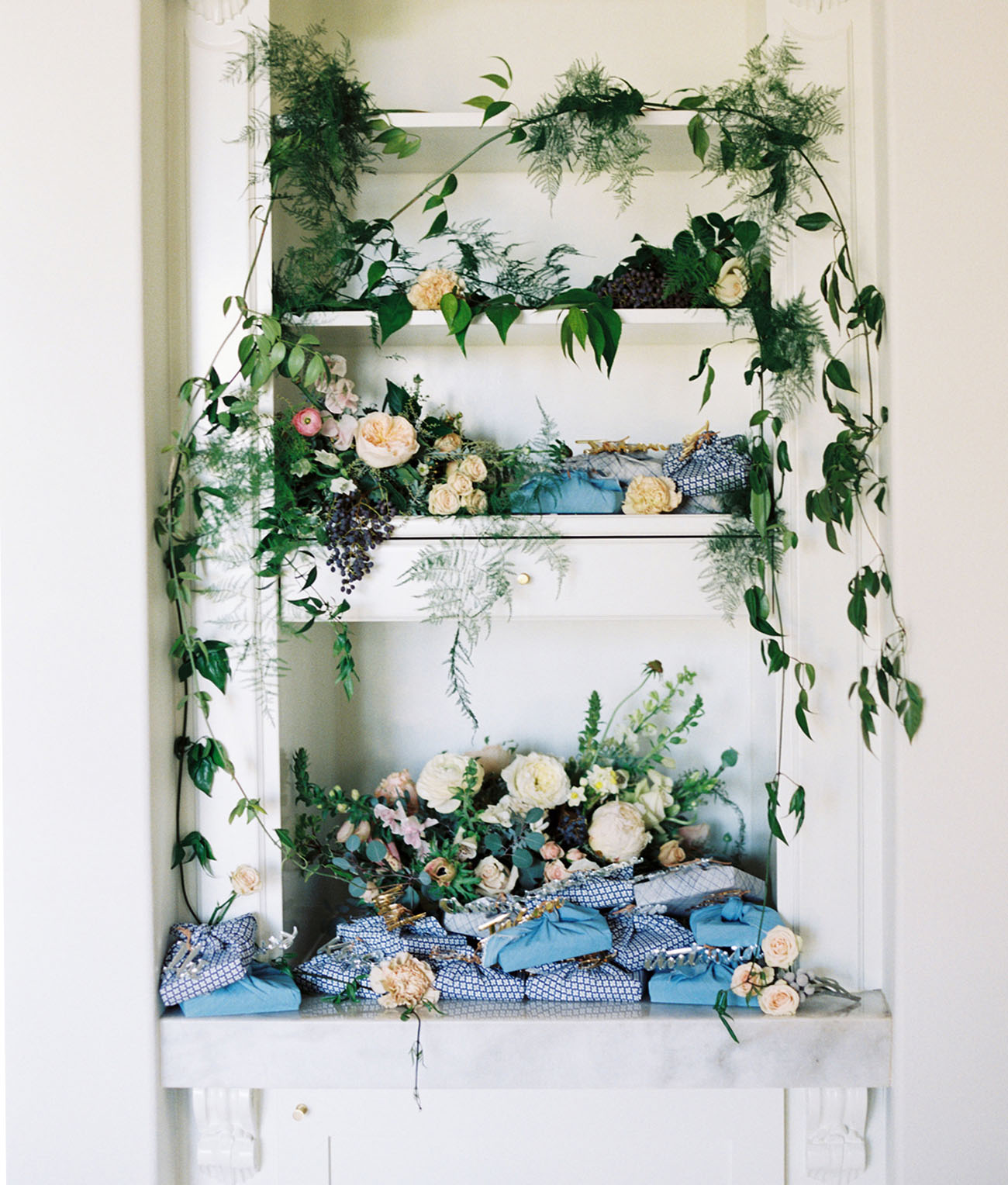 greenery shelf