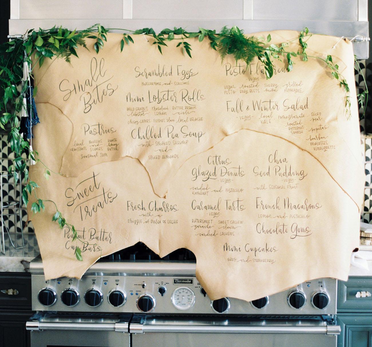 paper greenery menu