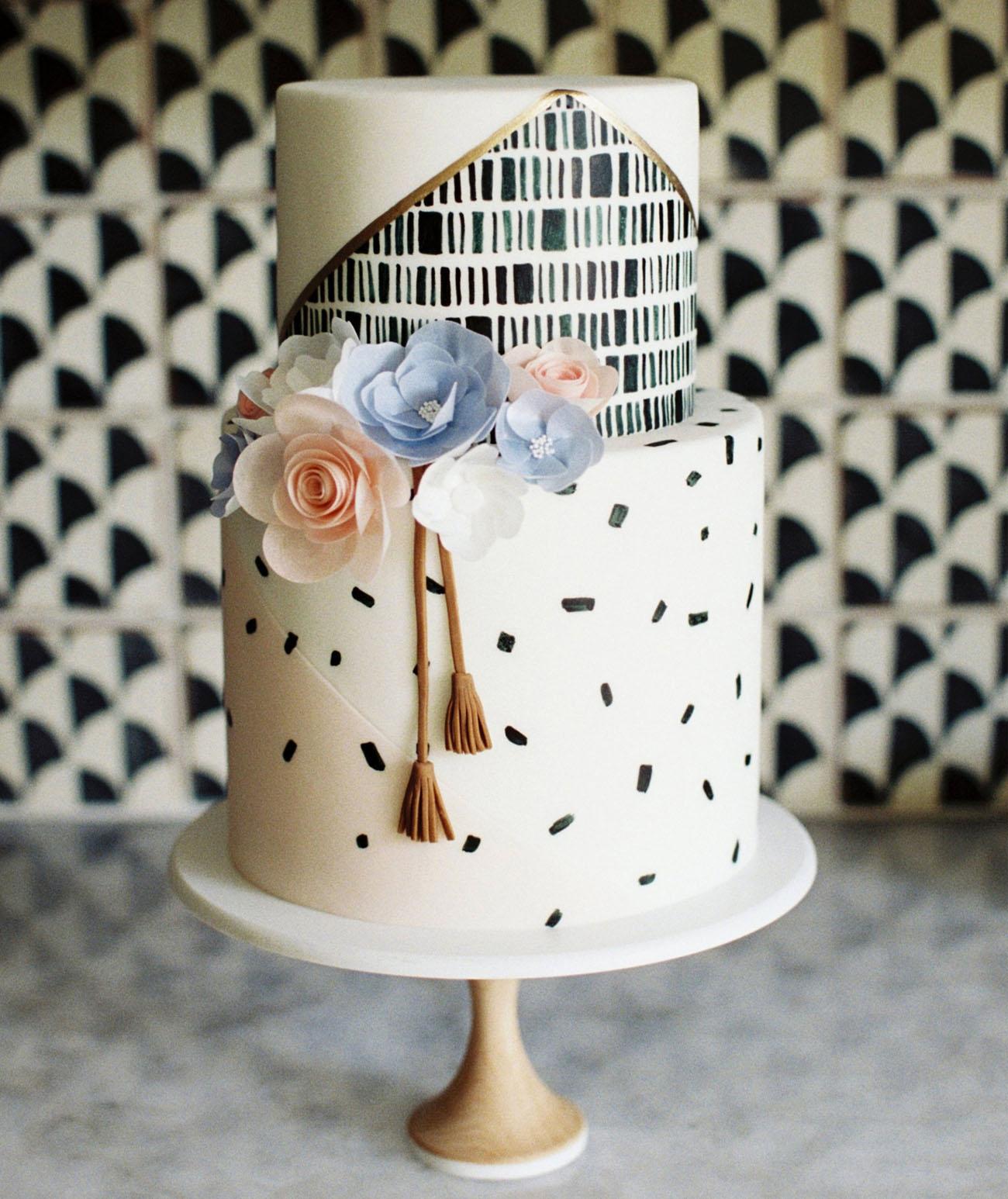 modern texture cake
