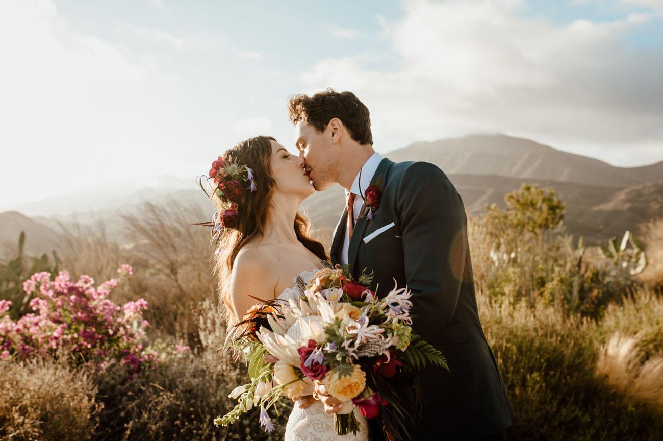 Jewel Tone Ojai Wedding
