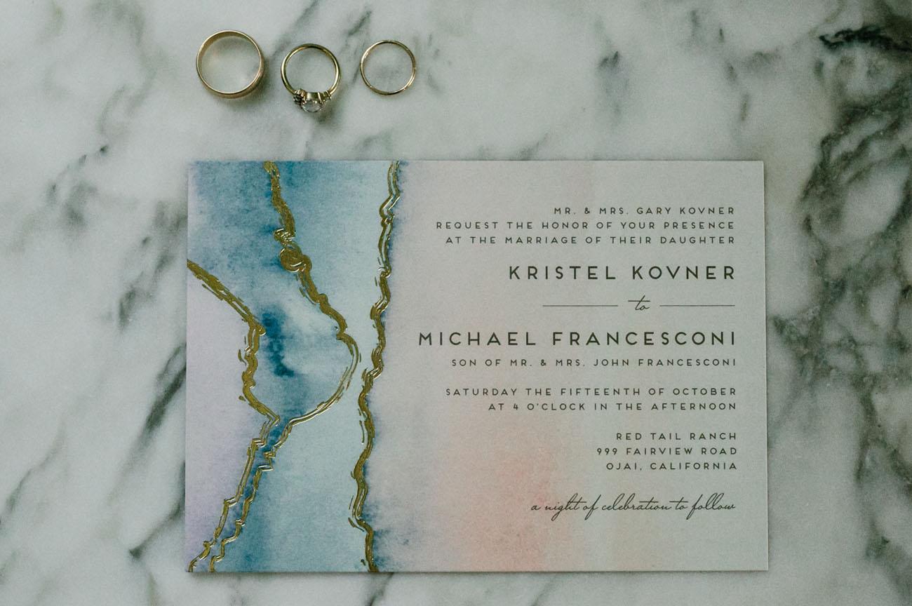 marbleized invitation